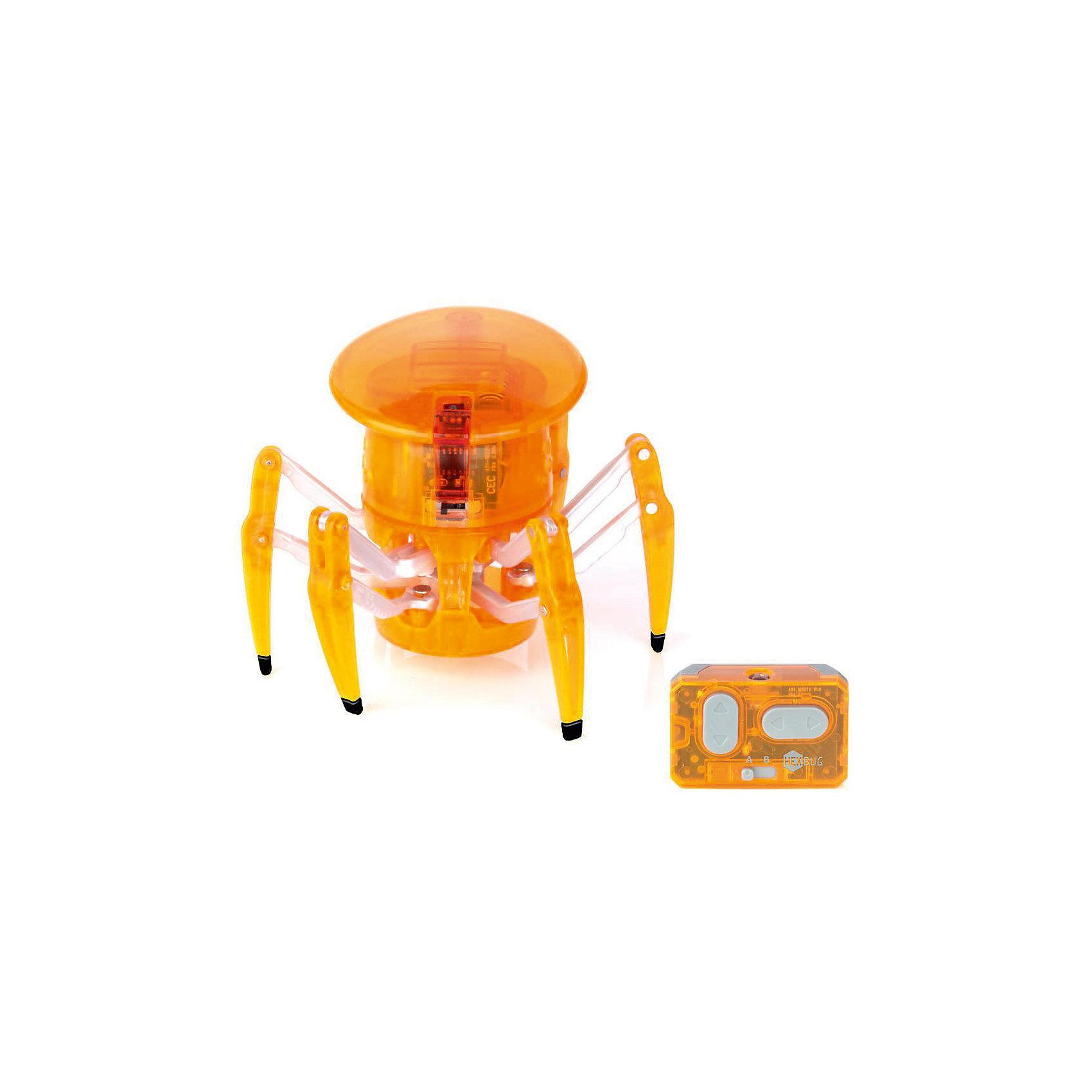 Микро-робот на управлении Спайдер, оранжевый, HexbugИнтерактивные игрушки для малышей<br>Микро-робот на управлении Спайдер, оранжевый, Hexbug (Хексбаг)<br><br>Характеристики:<br><br>• передвигается в любых направлениях<br>• светящийся глаз<br>• двухканальное управление<br>• для работы необходимы батарейки AG13 - 5 шт.<br>• размер: 7,7х9,1 см<br>• вес: 43 грамма<br>• цвет: оранжевый<br><br>Микро-робот Спайдер - очень быстрый паучок, которым вы сможете управлять самостоятельно с помощью дистанционного пульта. По команде робот способен передвигаться в любую указанную сторону и вращаться на 360 градусов. Двухканальное управление позволит вам устроить настоящие гонки для двух роботов. Микро-робот Спайдер - интересный и увлекательный подарок для всей семьи!<br><br>Микро-робота на управлении Спайдер, оранжевый, Hexbug (Хексбаг) вы можете купить в нашем интернет-магазине.<br><br>Ширина мм: 9999<br>Глубина мм: 9999<br>Высота мм: 9999<br>Вес г: 9999<br>Возраст от месяцев: 36<br>Возраст до месяцев: 2147483647<br>Пол: Унисекс<br>Возраст: Детский<br>SKU: 5507221