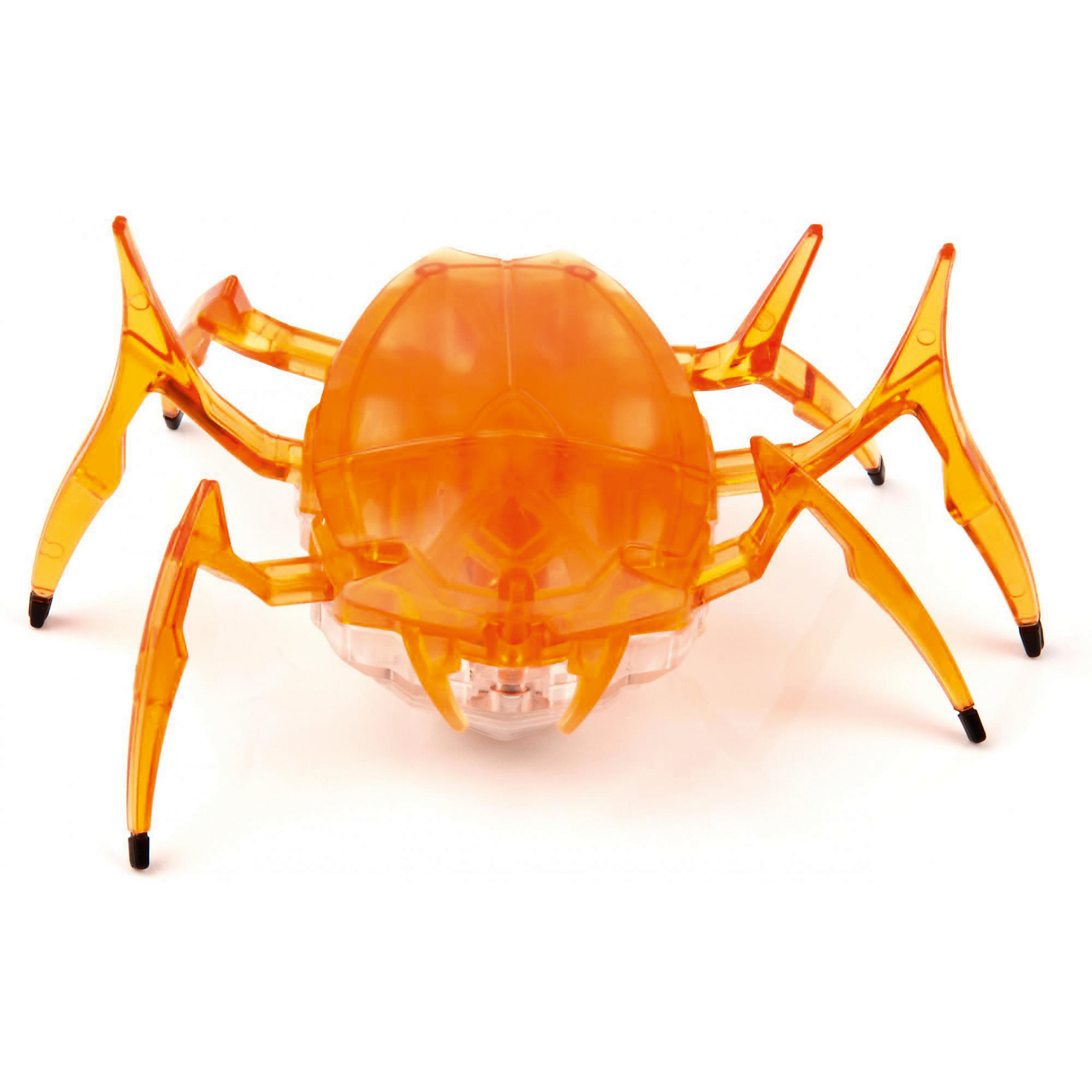 Микро-робот Cкарабей, оранжевый, HexbugПрочие интерактивные игрушки<br>Микро-робот Cкарабей, оранжевый, Hexbug (Хексбаг)<br><br>Характеристики:<br><br>• самостоятельно передвигается и переворачивается<br>• умеет толкать небольшие предметы<br>• мощный моторчик<br>• батарейки: AG13 - 3 шт. (входят в комплект)<br>• материал: пластик, металл<br>• размер: 6х7х4 см<br>• цвет: оранжевый<br>• размер упаковки: 13х11,5х6 см<br>• вес: 40 грамм<br><br>Микро-робот Скарабей - маленькая копия своего прототипа. Как и жук скарабей, робот умеет толкать небольшие предметы, превышающие его собственный вес. Кроме того, робот не имеет датчиков и самостоятельно передвигается в любую сторону. При столкновении с препятствием робот отпрыгивает и разворачивается в другую сторону, чтобы продолжить свой путь. Даже если робот упадет на спинку, он быстро перевернется и побежит в нужном направлении. Такая игрушка позволит вам весело провести время всей семьей!<br><br>Микро-робота Cкарабей, оранжевый, Hexbug (Хексбаг) вы можете купить в нашем интернет-магазине.<br><br>Ширина мм: 60<br>Глубина мм: 110<br>Высота мм: 130<br>Вес г: 47<br>Возраст от месяцев: 36<br>Возраст до месяцев: 2147483647<br>Пол: Унисекс<br>Возраст: Детский<br>SKU: 5507224