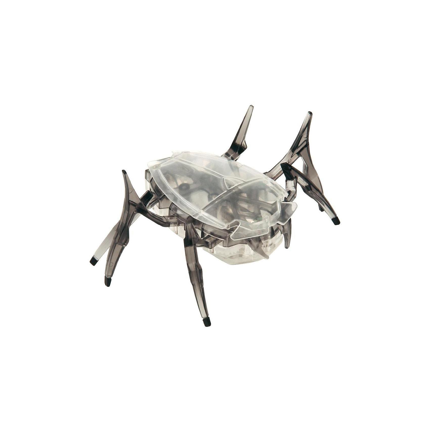 Микро-робот Cкарабей, черный, HexbugИнтерактивные животные<br>Микро-робот Cкарабей, черный, Hexbug (Хексбаг)<br><br>Характеристики:<br><br>• самостоятельно передвигается и переворачивается<br>• умеет толкать небольшие предметы<br>• мощный моторчик<br>• батарейки: AG13 - 3 шт. (входят в комплект)<br>• материал: пластик, металл<br>• размер: 6х7х4 см<br>• цвет: черный<br>• размер упаковки: 13х11,5х6 см<br>• вес: 40 грамм<br><br>Микро-робот Скарабей - маленькая копия своего прототипа. Как и жук скарабей, робот умеет толкать небольшие предметы, превышающие его собственный вес. Кроме того, робот не имеет датчиков и самостоятельно передвигается в любую сторону. При столкновении с препятствием робот отпрыгивает и разворачивается в другую сторону, чтобы продолжить свой путь. Даже если робот упадет на спинку, он быстро перевернется и побежит в нужном направлении. Такая игрушка позволит вам весело провести время всей семьей!<br><br>Микро-робота Cкарабей, черный, Hexbug (Хексбаг) вы можете купить в нашем интернет-магазине.<br><br>Ширина мм: 60<br>Глубина мм: 110<br>Высота мм: 130<br>Вес г: 47<br>Возраст от месяцев: 36<br>Возраст до месяцев: 2147483647<br>Пол: Унисекс<br>Возраст: Детский<br>SKU: 5507226