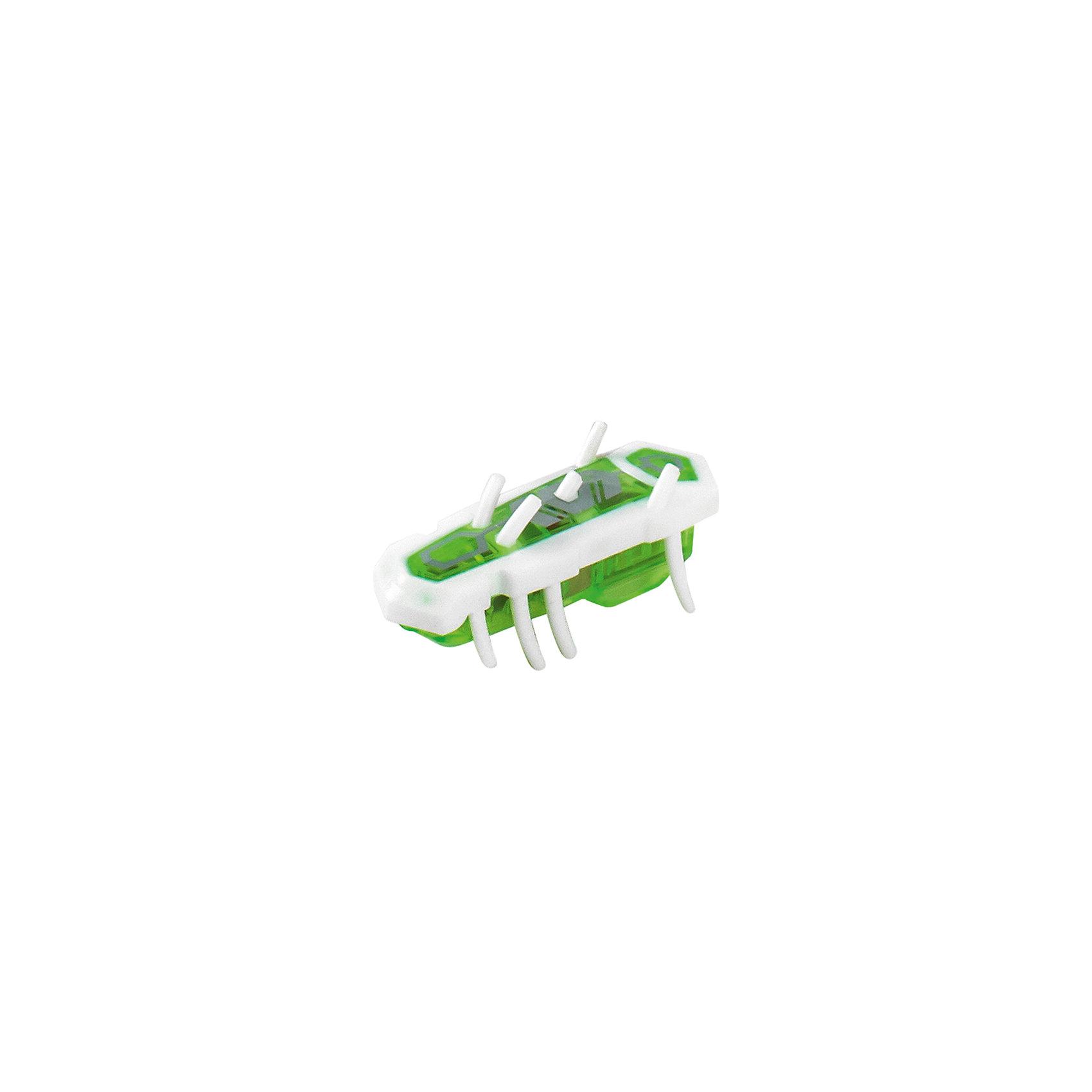 Микро-робот Nano Nitro Single, бело-зеленый, HexbugИнтерактивные животные<br>Микро-робот Nano Nitro Single, бело-зеленый, Hexbug (Хексбаг)<br><br>Характеристики:<br><br>• быстро меняет траекторию движения<br>• самостоятельно переворачивается<br>• карабкается наверх<br>• мощный моторчик<br>• устойчив к повреждениям<br>• 8 ножек снизу и 5 сверху<br>• батарейки: AG13 - 1 шт. (входит в комплект)<br>• размер: 1,4х2х4,2 см<br>• вес: 8 грамм<br>• цвет: бело-зеленый<br>• материал: пластик<br>• размер упаковки: 13х5х3 см<br>• вес: 65 грамм<br><br>Микро-робот Nano Nitro Single очень напоминает настоящего жучка. Он также быстро бегает, меняет траекторию движения и даже самостоятельно переворачивается в случае падения. Благодаря усовершенствованному моторчику жучок способен карабкаться наверх по специальным трубочкам. Игрушка подходит для старых и новых моделей нанодромов Hexbug.<br><br>Микро-робота Nano Nitro Single, бело-зеленый, Hexbug (Хексбаг) вы можете купить в нашем интернет-магазине.<br><br>Ширина мм: 130<br>Глубина мм: 25<br>Высота мм: 25<br>Вес г: 30<br>Возраст от месяцев: 36<br>Возраст до месяцев: 2147483647<br>Пол: Унисекс<br>Возраст: Детский<br>SKU: 5507227