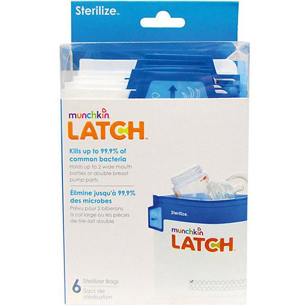 Пакеты для стерилизации LATCH , 6шт., MunchkinМолокоотсосы и аксессуары<br>Пакеты для стерилизации LATCH , 6шт., Munchkin (Манчкин)<br><br>Характеристики:<br><br>• многоразовые пакеты для стерилизации бутылочек и сосок<br>• сетка для отметок<br>• стерилизация за 90 секунд<br>• ручка Cool-Touch<br>• в комплекте: 6 пакетов<br>• размер упаковки: 19х10х7 см<br>• вес: 100 грамм<br><br>Пакеты LATCH предназначены для быстрой, удобной стерилизации бутылочек, сосок и деталей молокоотсоса. Для стерилизации нужно положить части бутылочки  в пакет, залить их водой, а затем поместить в микроволновую печь на 90 секунд. Ручка Cool-Touch всегда остается холодной, чтобы вы не обожглись при использовании пакетов. Каждый пакет можно использовать 30 раз. С лицевой стороны находится удобная сетка, на которой можно делать отметки об использовании. Лента с бегунком позволит вам легко и надежно закрыть пакет перед использованием.<br><br>Пакеты для стерилизации LATCH , 6шт., Munchkin (Манчкин) можно купить в нашем интернет-магазине.<br>Ширина мм: 70; Глубина мм: 100; Высота мм: 190; Вес г: 100; Возраст от месяцев: -2147483648; Возраст до месяцев: 2147483647; Пол: Унисекс; Возраст: Детский; SKU: 5507247;