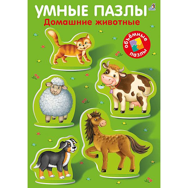 Умные пазлы: Домашние животныеКниги-пазлы<br>Книга Умные пазлы. Домашние животные.<br><br>Характеристика:<br><br>• Формат: 31х21 см.<br>• Переплет: твердый. <br>• Количество страниц: 2.<br>• Иллюстрации: цветные.<br>• Фигурки животных выполнены из плотного картона. <br>• Развивает речь, моторику рук, цветовосприятие, фантазию, расширяет словарный запас.<br><br>Книга Умные пазлы поможет малышам выучить новые слова, познакомит с животными и разовьет моторику рук и воображение. Фигурки животных и птиц выполнены из плотного картона. Их можно вынуть их книги и закрепить в специальных отверстиях на игровом поле. В книге есть веселые загадки на каждое животное, малышам понравится выполнять задания, рассматривать яркие картинки и учиться - весело и с интересом! <br><br>Книгу Умные пазлы. Домашние животные можно купить в нашем интернет-магазине.<br><br>Ширина мм: 300<br>Глубина мм: 210<br>Высота мм: 200<br>Вес г: 379<br>Возраст от месяцев: 36<br>Возраст до месяцев: 2147483647<br>Пол: Унисекс<br>Возраст: Детский<br>SKU: 5507286