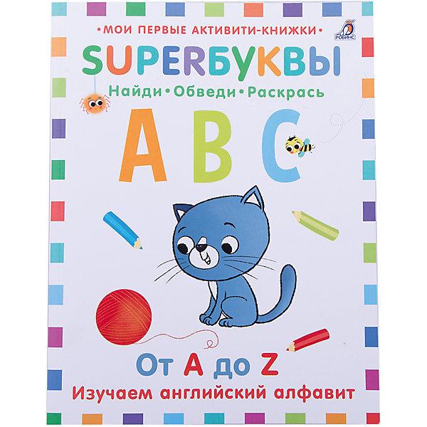 Супербуквы: Английский алфавитИностранный язык<br>Книга Супербуквы. Английский алфавит.<br><br>Характеристика:<br><br>• Иллюстрации: цветные.<br>• Формат: 27,5х21,5 см.<br>• Переплет: мягкий. <br>• Количество страниц: 64.<br>• Несколько уровней сложности<br>• Яркие картинки. <br>• Интересные вопросы и задания. <br>• Развивает моторику рук, мышление, фантазию, помогает запомнить буквы английского алфавита, написание и произношение слов.<br><br>С этой замечательной книгой малыши выучат английский алфавит, запомнят произношение и написание некоторых слов. Обводи буквы по точкам, выполняй веселые задания, отвечай на вопросы. Яркие картинки сделают процесс обучения еще интереснее и увлекательнее. <br><br>Книгу Супербуквы. Английский алфавит можно купить в нашем интернет-магазине.<br><br>Ширина мм: 275<br>Глубина мм: 215<br>Высота мм: 60<br>Вес г: 261<br>Возраст от месяцев: 36<br>Возраст до месяцев: 2147483647<br>Пол: Унисекс<br>Возраст: Детский<br>SKU: 5507291