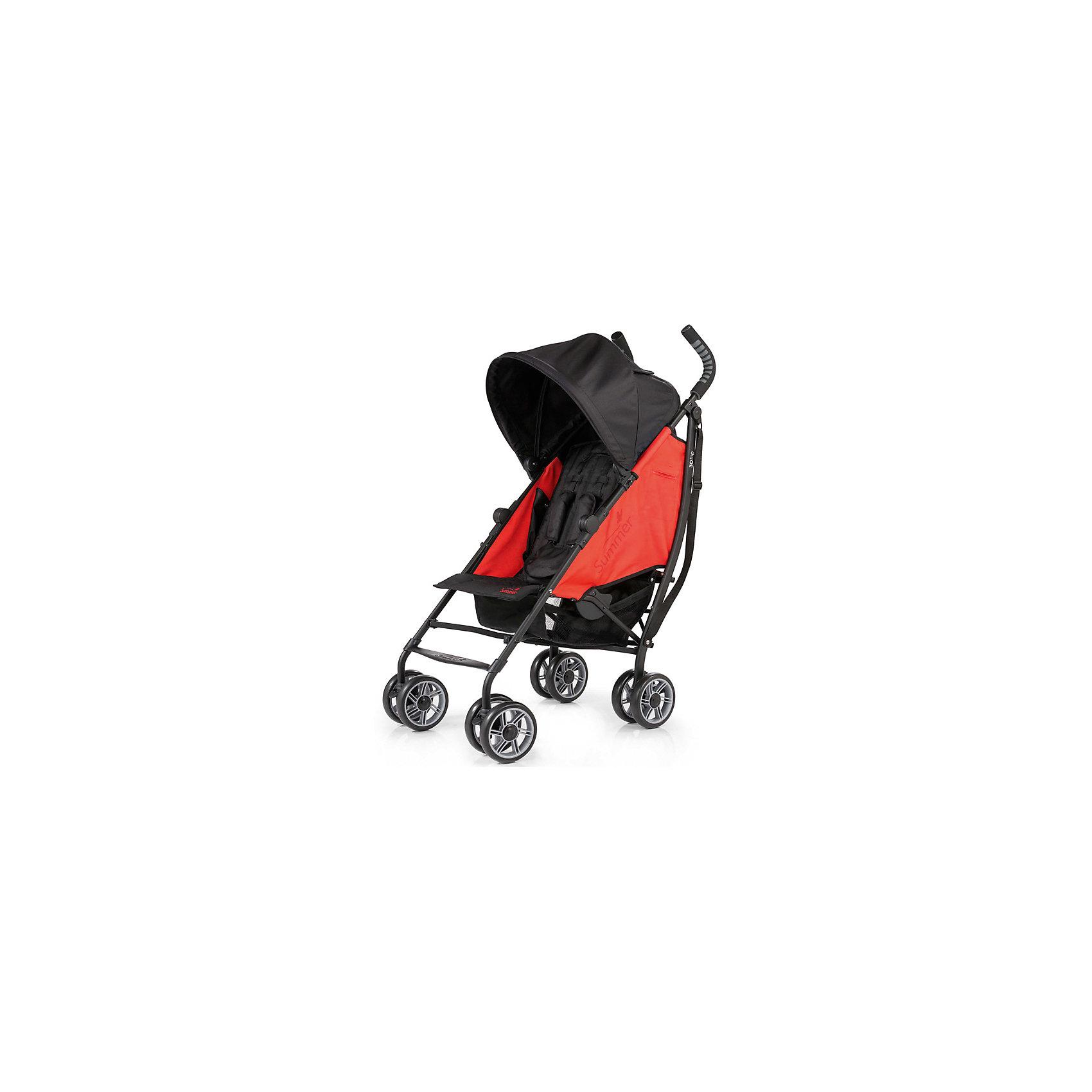 Коляска-трость 3D Flip, Summer Infant, черный/красныйКомпактная, удобная коляска-трость 3D Flip Stroller от компании Summer Infant <br>Особенности:<br>Широкое двухстороннее сидение <br>Опускающаяся спинка (6 положений)<br>Вместительная корзина<br>Опускающийся капюшон<br>5-точечный ремень безопасности<br>Вращающиеся колеса<br>Вес 8 кг<br><br>Ширина мм: 1020<br>Глубина мм: 325<br>Высота мм: 245<br>Вес г: 9000<br>Возраст от месяцев: 6<br>Возраст до месяцев: 36<br>Пол: Унисекс<br>Возраст: Детский<br>SKU: 5507982