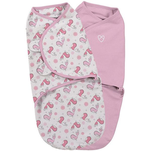 Конверт на липучке Swaddleme, размер S/M, 2шт., Summer Infant, розовый/птичкиКонверты для пеленания<br>Характеристики конверта на липучке Swaddleme: <br><br>• конверт-мешок для детей первого года жизни;<br>• не сковывает движения ребенка;<br>• снижает рефлекс вздрагивания;<br>• конверт оснащен крыльями, малыш не сможет «освободиться» во время движений ручками;<br>• объятия крыльев регулируются по мере роста ребенка;<br>• тип застежки: липучки;<br>• отверстие в области ног ребенка для смены подгузника;<br>• размер конверта: S/M;<br>• длина конверта: 55 см;<br>• рост ребенка: 56-62 см;<br>• вес ребенка: 3-6 кг;<br>• возраст ребенка: от рождения до 3-х месяцев;<br>• состав ткани: 100% хлопок.<br><br>Конверт-мешок на липучке позволяет деткам первого года жизни вести себя спокойнее во сне, снижает рефлекс вздрагивания, при этом конверт не сковывает движений ребенка. Ручки обтянуты мягкими эластичными «крыльями» конверта, а ножками ребенок может легко теребить. Регулируемые объятия крыльев дают возможность подгонять размер конверта в зависимости от его роста и веса. Отверстие конверта в области ножек малыша дает возможность контролировать наполненность подгузника, чтобы осуществить своевременную его замену. <br><br>Количество в упаковке: 2 шт.<br>Размер упаковки: 27х15х4,5 см<br>Вес: 300 г<br><br>Конверт на липучке Swaddleme, размер S/M, 2шт., Summer Infant, розовый/птички можно купить в нашем интернет-магазине.<br><br>Ширина мм: 150<br>Глубина мм: 270<br>Высота мм: 45<br>Вес г: 300<br>Возраст от месяцев: 0<br>Возраст до месяцев: 3<br>Пол: Женский<br>Возраст: Детский<br>SKU: 5507988