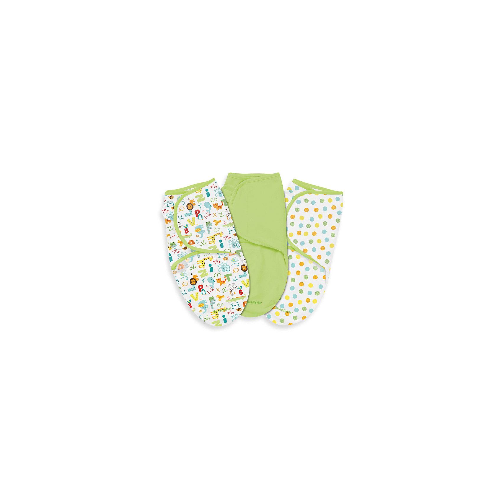 Конверт на липучке Swaddleme, размер S/M, 3шт., Summer Infant, зеленый /алфавит/горошкиПеленание<br>Характеристики конверта на липучке Swaddleme: <br><br>• конверт-мешок для детей первого года жизни;<br>• не сковывает движения ребенка;<br>• снижает рефлекс вздрагивания;<br>• конверт оснащен крыльями, малыш не сможет «освободиться» во время движений ручками;<br>• объятия крыльев регулируются по мере роста ребенка;<br>• тип застежки: липучки;<br>• отверстие в области ног ребенка для смены подгузника;<br>• размер конверта: S/M;<br>• длина конверта: 55 см;<br>• рост ребенка: 56-62 см;<br>• вес ребенка: 3-6 кг;<br>• возраст ребенка: от рождения до 3-х месяцев;<br>• состав ткани: 100% хлопок.<br><br>Конверт-мешок на липучке позволяет деткам первого года жизни вести себя спокойнее во сне, снижает рефлекс вздрагивания, при этом конверт не сковывает движений ребенка. Ручки обтянуты мягкими эластичными «крыльями» конверта, а ножками ребенок может легко теребить. Регулируемые объятия крыльев дают возможность подгонять размер конверта в зависимости от его роста и веса. Отверстие конверта в области ножек малыша дает возможность контролировать наполненность подгузника, чтобы осуществить своевременную его замену. <br><br>Количество в упаковке: 3 шт.<br>Размер упаковки: 27х21х4,5 см<br>Вес: 400 г<br><br>Конверт на липучке Swaddleme, размер S/M, 3шт., Summer Infant, зеленый /алфавит/горошки можно купить в нашем интернет-магазине.<br><br>Ширина мм: 210<br>Глубина мм: 270<br>Высота мм: 45<br>Вес г: 400<br>Возраст от месяцев: 0<br>Возраст до месяцев: 3<br>Пол: Унисекс<br>Возраст: Детский<br>SKU: 5507990