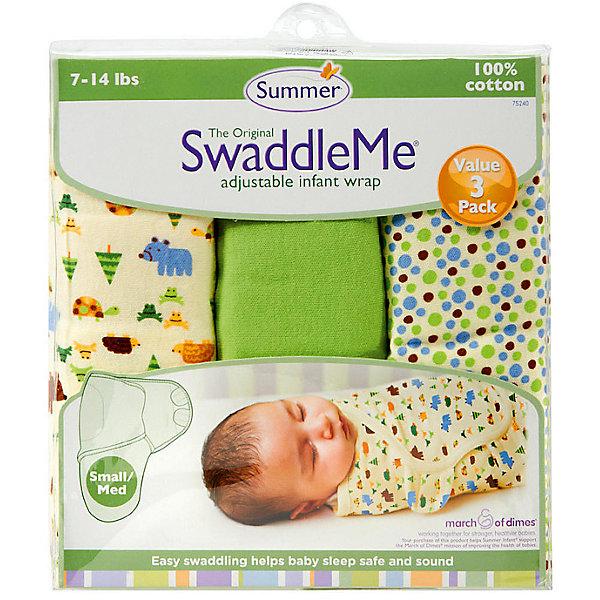 Конверт на липучке Swaddleme, размер S/M, 3шт., Summer Infant, зеленый/лесные зверята/точкиКонверты для пеленания<br>Характеристики конверта на липучке Swaddleme: <br><br>• конверт-мешок для детей первого года жизни;<br>• не сковывает движения ребенка;<br>• снижает рефлекс вздрагивания;<br>• конверт оснащен крыльями, малыш не сможет «освободиться» во время движений ручками;<br>• объятия крыльев регулируются по мере роста ребенка;<br>• тип застежки: липучки;<br>• отверстие в области ног ребенка для смены подгузника;<br>• размер конверта: S/M;<br>• длина конверта: 55 см;<br>• рост ребенка: 56-62 см;<br>• вес ребенка: 3-6 кг;<br>• возраст ребенка: от рождения до 3-х месяцев;<br>• состав ткани: 100% хлопок.<br><br>Конверт-мешок на липучке позволяет деткам первого года жизни вести себя спокойнее во сне, снижает рефлекс вздрагивания, при этом конверт не сковывает движений ребенка. Ручки обтянуты мягкими эластичными «крыльями» конверта, а ножками ребенок может легко теребить. Регулируемые объятия крыльев дают возможность подгонять размер конверта в зависимости от его роста и веса. Отверстие конверта в области ножек малыша дает возможность контролировать наполненность подгузника, чтобы осуществить своевременную его замену. <br><br>Количество в упаковке: 3 шт.<br>Размер упаковки: 27х21х4,5 см<br>Вес: 400 г<br><br>Конверт на липучке Swaddleme, размер S/M, 3шт., Summer Infant, зеленый/лесные зверята/точки можно купить в нашем интернет-магазине.<br><br>Ширина мм: 210<br>Глубина мм: 270<br>Высота мм: 45<br>Вес г: 400<br>Возраст от месяцев: 0<br>Возраст до месяцев: 3<br>Пол: Унисекс<br>Возраст: Детский<br>SKU: 5507993