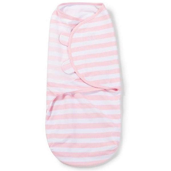 Конверт на липучке Swaddleme, размер S/M, Summer Infant,  розовый, полоски