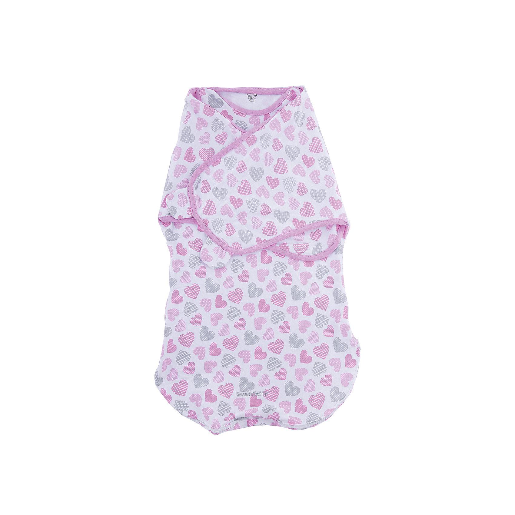 Конверт на липучке Wrap Sack, размер L, Summer Infant, сердечкиПеленание<br>Характеристики конверта на липучке Wrap Sack:<br><br>• практичная пеленка 2в1 для ребенка: конверт с крыльями и мешок для сна с прорезями для ручек;<br>• два способа фиксации;<br>• мешок для сна можно использовать вместо одеяла;<br>• руки можно запеленать, можно оставить их свободными;<br>• находясь в конверте, ребенок может спокойно двигать ножками;<br>• тип застежки: липучка;<br>• материал: 100% хлопок;<br>• размер конверта: L;<br>• вес ребенка: 6-10 кг;<br>• рост ребенка: 68-72 см;<br>• возраст ребенка: от 4 до 9 месяцев.<br><br>Практичный конверт с двумя способами фиксации дает возможность снизить рефлекторное движение ребенка ручками во сне – рефлекс вздрагивания. Ручки прилегают к туловищу, ребеночек не будит ручками себя во сне. Также можно использовать конверт как мешок для сна, когда ручки будут открыты, малыш сможет спокойно их рассматривать, шевелить ручками.<br><br>Размер упаковки: 31х22,5х20 см<br>Вес: 300 г<br><br>Конверт на липучке Wrap Sack, размер L, Summer Infant, сердечки можно купить в нашем интернет-магазине.<br><br>Ширина мм: 225<br>Глубина мм: 310<br>Высота мм: 20<br>Вес г: 300<br>Возраст от месяцев: 3<br>Возраст до месяцев: 9<br>Пол: Женский<br>Возраст: Детский<br>SKU: 5508002