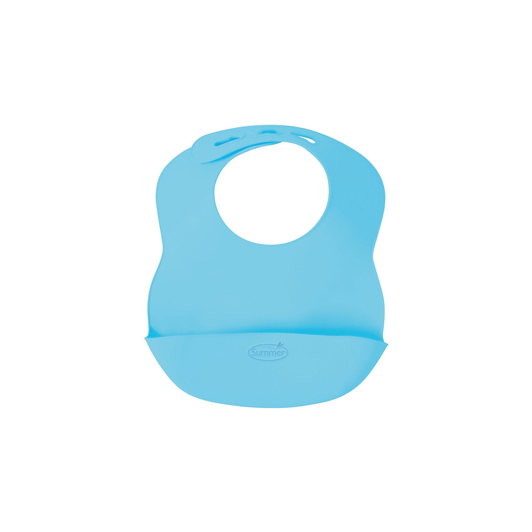 Нагрудник Bibbity, Summer Infant,голубойНагрудник Bibbity специально создан, чтобы собирать крошки и остатки еды малыша, защищая его одежду от пятен.<br>Сделан из мягкого гибкого материала, чтобы малышу было максимально комфортно его носить.<br>Мягкие контуры воротничка легко регулируются на шее ребенка.<br>Удобно брать на прогулки, нагрудник занимает мало место в сумке, можно сворачивать.<br>Легко протирается, не нужно застирывать.<br>Не содержит бисфинола А, свинца, винила, фталатов и латекса.<br><br>Ширина мм: 230<br>Глубина мм: 275<br>Высота мм: 50<br>Вес г: 120<br>Возраст от месяцев: 6<br>Возраст до месяцев: 36<br>Пол: Мужской<br>Возраст: Детский<br>SKU: 5508009