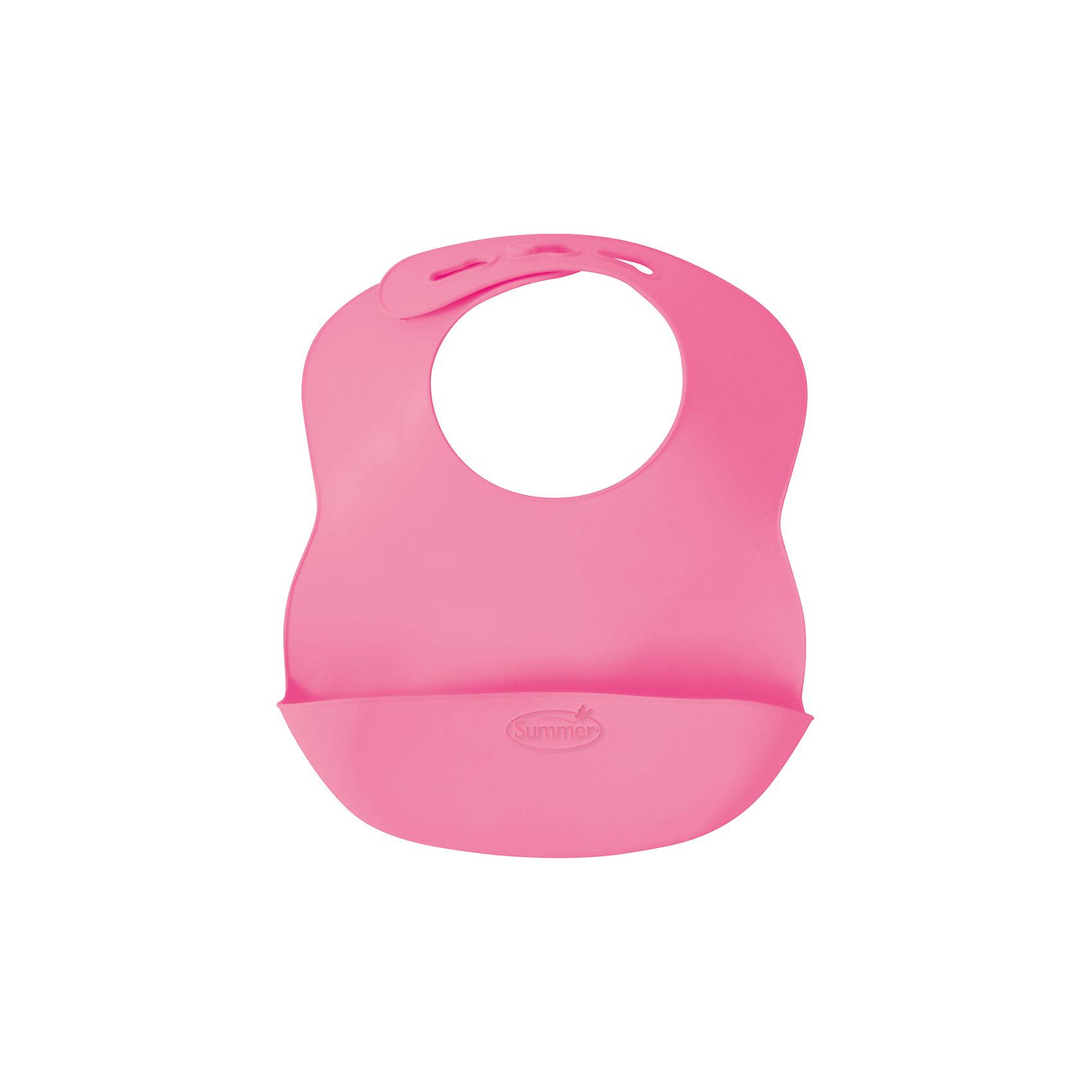 Нагрудник Bibbity, Summer Infant, розовыйНагрудники и салфетки<br>Характеристики:<br><br>• регулируемый размер воротничка нагрудника;<br>• кармашек для крошек;<br>• мягкие изгибы нагрудника;<br>• не содержит бисфинол А;<br>• материал: гибкий пластик;<br>• размер нагрудника: 27,5х23х5 см;<br>• вес: 120 г.<br><br>Пластиковый нагрудник пригодится малышам старше 6 месяцев. Специальный кармашек создан специально для собирания крошек, которые сыплются в процессе приема пищи ребенком. Нагрудник имеет регулируемый ремешок, чтобы подобрать оптимальный размер окружности воротничка нагрудники на шейке ребенка. Легко моется и освобождается от остатков пищи. <br><br>Нагрудник Bibbity, Summer Infant, голубой можно купить в нашем интернет-магазине.<br><br>Ширина мм: 230<br>Глубина мм: 275<br>Высота мм: 50<br>Вес г: 120<br>Возраст от месяцев: 6<br>Возраст до месяцев: 36<br>Пол: Женский<br>Возраст: Детский<br>SKU: 5508010