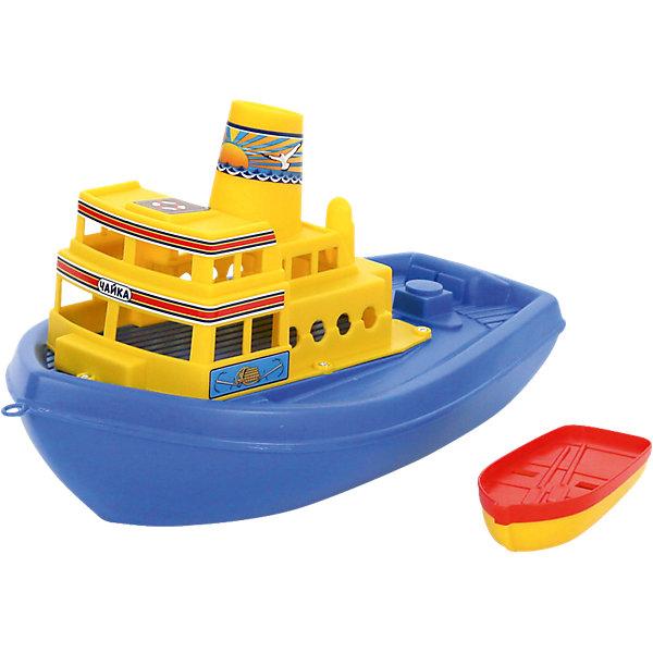 Корабль Чайка, ПолесьеКорабли и лодки<br>Характеристики товара:<br><br>• возраст: от 3 лет<br>• материал: пластик<br>• размер упаковки: 37 x 23x20 см.<br>• страна производитель: Беларусь.<br><br>Корабль представляет собой двухпалубный пароход, названием для которого послужила птица-спутник всех моряков - чайка. Судно украшено изображением волн и якорей, а также чайки, парящей над волнами на фоне морского рассвета. <br><br>На корабле также есть спасательная шлюпка для экстренных ситуаций. Такой корабль станет отличным участником игр в ванной или бассейне.<br><br>Корабль Чайка, Полесье можно купить в нашем интернет-магазине.<br><br>Ширина мм: 362<br>Глубина мм: 210<br>Высота мм: 205<br>Вес г: 374<br>Возраст от месяцев: 12<br>Возраст до месяцев: 72<br>Пол: Унисекс<br>Возраст: Детский<br>SKU: 5508427
