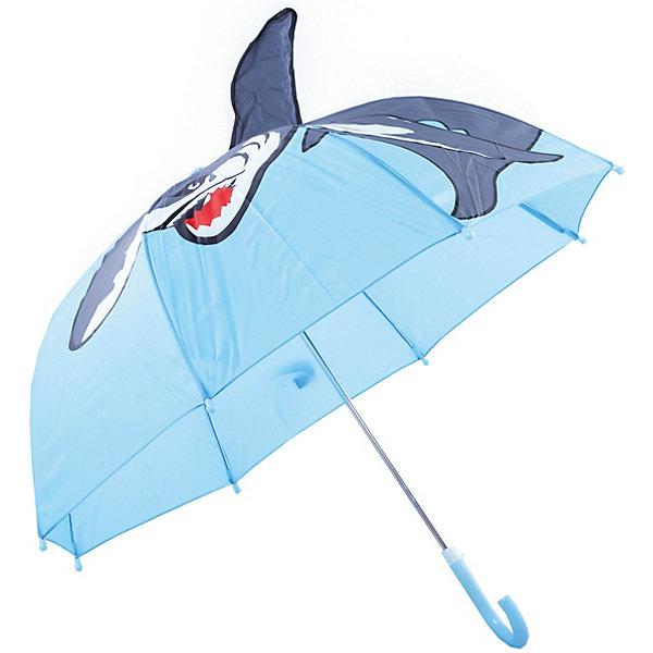 Зонт детский Акула, 46 см.Зонты детские<br>Зонт детский Акула, 46 см., Mary Poppins (Мэри Поппинс)<br><br>Характеристики:<br><br>• устойчив к ветру<br>• система складывания: механическая<br>• пластиковый фиксатор на стержне зонтика<br>• пластиковые наконечники на спицах<br>• прочное крепление купола<br>• радиус купола: 46 см<br>• материал: полиэстер, металл, пластик<br>• размер упаковки: 64х8х3 см<br><br>Детский зонт Акула порадует малыша своим красивым дизайном и защитит от дождя. Купол надежно прикреплен к металлическому каркасу, что делает зонт устойчивым к ветру. Чтобы избежать травмирования малыша во время использования, спицы дополнены закругленными пластиковыми наконечниками. Купол зонта оформлен изображением акулы. А объемный плавник делает хищницу еще более  реалистичной.<br><br>Зонт детский Акула, 46 см., Mary Poppins (Мэри Поппинс) можно купить в нашем интернет-магазине.<br>Ширина мм: 580; Глубина мм: 400; Высота мм: 400; Вес г: 250; Возраст от месяцев: 36; Возраст до месяцев: 2147483647; Пол: Мужской; Возраст: Детский; SKU: 5508501;