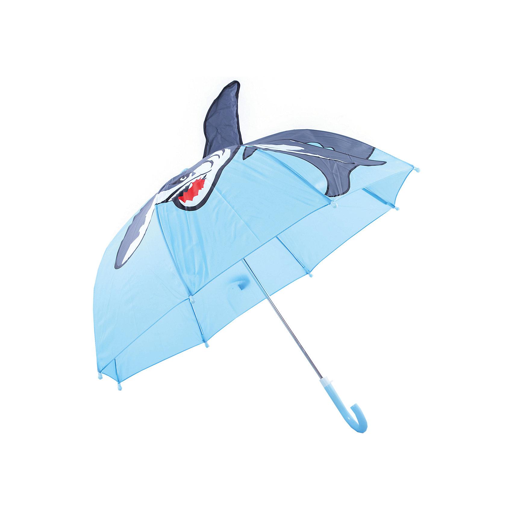 Зонт детский Акула, 46 см.Зонты детские<br>Зонт детский Акула, 46 см., Mary Poppins (Мэри Поппинс)<br><br>Характеристики:<br><br>• устойчив к ветру<br>• система складывания: механическая<br>• пластиковый фиксатор на стержне зонтика<br>• пластиковые наконечники на спицах<br>• прочное крепление купола<br>• радиус купола: 46 см<br>• материал: полиэстер, металл, пластик<br>• размер упаковки: 64х8х3 см<br><br>Детский зонт Акула порадует малыша своим красивым дизайном и защитит от дождя. Купол надежно прикреплен к металлическому каркасу, что делает зонт устойчивым к ветру. Чтобы избежать травмирования малыша во время использования, спицы дополнены закругленными пластиковыми наконечниками. Купол зонта оформлен изображением акулы. А объемный плавник делает хищницу еще более  реалистичной.<br><br>Зонт детский Акула, 46 см., Mary Poppins (Мэри Поппинс) можно купить в нашем интернет-магазине.<br><br>Ширина мм: 580<br>Глубина мм: 400<br>Высота мм: 400<br>Вес г: 250<br>Возраст от месяцев: 36<br>Возраст до месяцев: 2147483647<br>Пол: Мужской<br>Возраст: Детский<br>SKU: 5508501