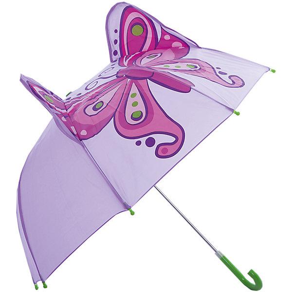 Зонт детский Бабочка, 46 см.Зонты детские<br>Зонт детский Бабочка, 46 см., Mary Poppins (Мэри Поппинс)<br><br>Характеристики:<br><br>• устойчив к ветру<br>• система складывания: механическая<br>• пластиковые наконечники на концах спиц<br>• прочное крепление купола<br>• радиус купола: 46 см<br>• материал: полиэстер, металл, пластик<br>• размер упаковки: 58х4х4 см<br><br>Яркий и стильный зонтик защитит ребенка от дождя и снега. Купол надежно крепится к каркасу, что обеспечивает устойчивость к ветру. Ручка зонта закруглена для удобства ребенка. На концах спиц имеются  закругленные наконечники, препятствующие случайному травмированию. Зонт имеет приятную розовую расцветку и принт в виде бабочки. Объемные ушки порадуют вашу малышку!<br><br>Зонт детский Бабочка, 46 см., Mary Poppins (Мэри Поппинс) можно купить в нашем интернет-магазине.<br><br>Ширина мм: 580<br>Глубина мм: 40<br>Высота мм: 400<br>Вес г: 250<br>Возраст от месяцев: 36<br>Возраст до месяцев: 2147483647<br>Пол: Женский<br>Возраст: Детский<br>SKU: 5508502