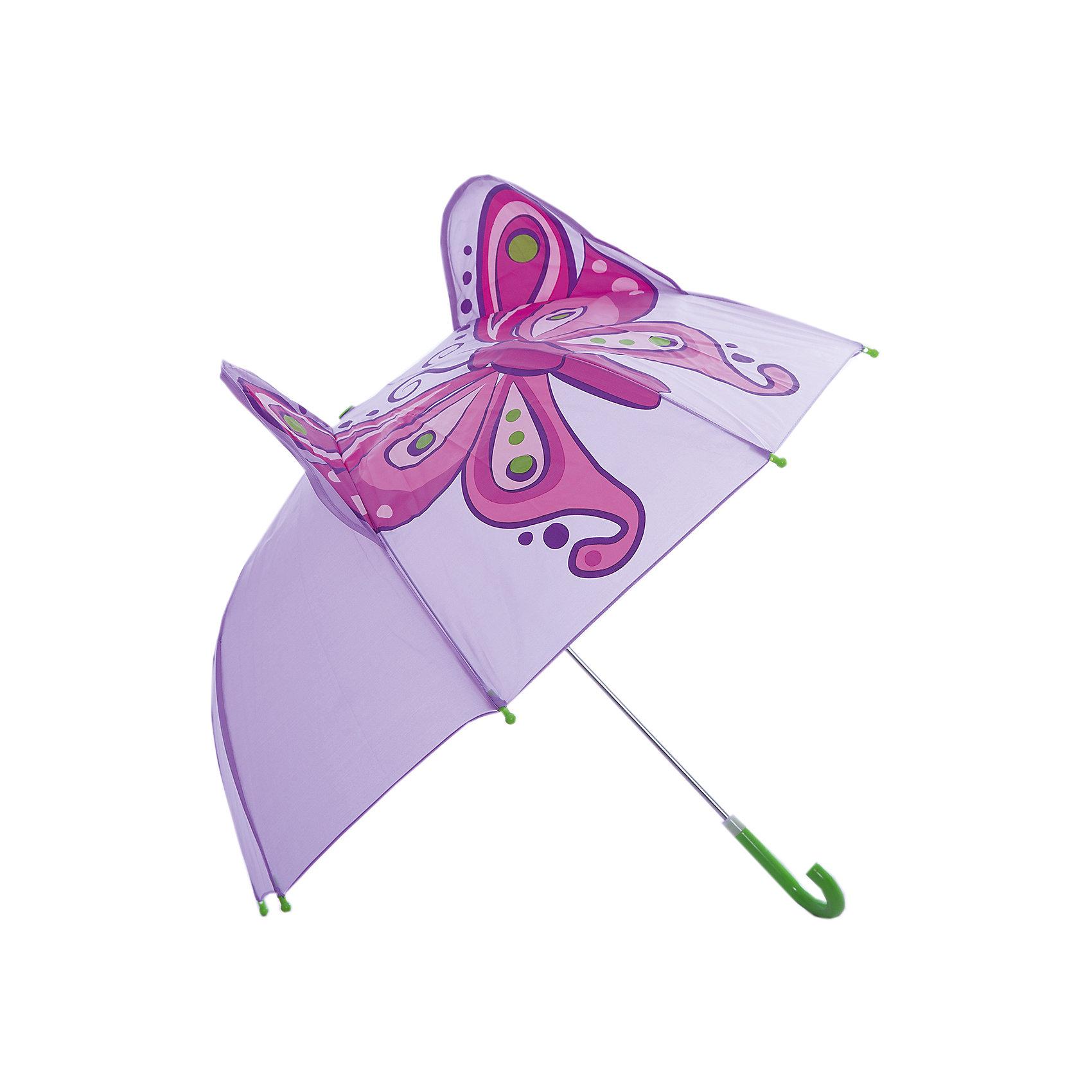 Зонт детский Бабочка, 46 см.Зонты детские<br>Яркий и удобный зонтик для малышей Бабочка. Радиус: 46 см. Длина ручки: 57 см.<br><br>Ширина мм: 580<br>Глубина мм: 40<br>Высота мм: 400<br>Вес г: 250<br>Возраст от месяцев: 36<br>Возраст до месяцев: 2147483647<br>Пол: Женский<br>Возраст: Детский<br>SKU: 5508502