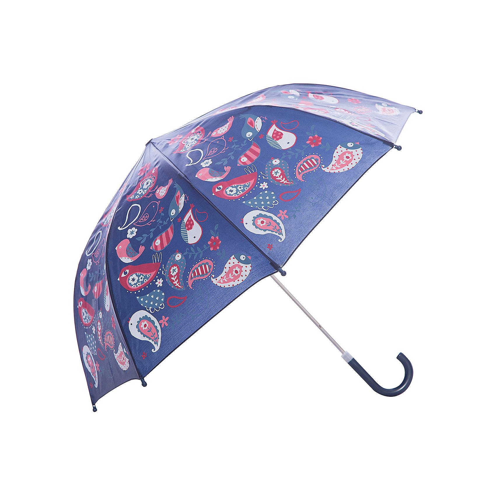 Зонт детский Веселые птички, 46 см.Зонты детские<br>Зонт детский Веселые птички, 46 см., Mary Poppins (Мэри Поппинс)<br><br>Характеристики:<br><br>• устойчив к ветру<br>• система складывания: механическая<br>• пластиковые наконечники на спицах<br>• прочное крепление купола<br>• длина ручки: 57 см<br>• радиус купола: 46 см<br>• материал: полиэстер, металл, пластик<br>• размер упаковки: 58х8х4 см<br><br>Зонт Веселые птички порадует ребенка красивым дизайном, а родители смогут оценить высокое качество изготовления. Купол зонта оформлен красочным принтом с разнообразными птичками. Купол надежно закреплен на металлическом каркасе и устойчив даже к сильному ветру. Спицы дополнены закругленными наконечниками из пластика. В собранном виде зонтик застегивается на липучку. Яркий зонтик защит ребенка от дождя и поднимет настроение в непогоду.<br><br>Зонт детский Веселые птички, 46 см., Mary Poppins (Мэри Поппинс) вы можете купить в нашем интернет-магазине.<br><br>Ширина мм: 580<br>Глубина мм: 400<br>Высота мм: 800<br>Вес г: 180<br>Возраст от месяцев: 36<br>Возраст до месяцев: 2147483647<br>Пол: Женский<br>Возраст: Детский<br>SKU: 5508503