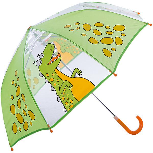 Зонт детский Динозаврик, 46см.Зонты детские<br>Зонт детский Динозаврик, 46см., Mary Poppins (Мэри Поппинс)<br><br>Характеристики:<br><br>• устойчив к ветру<br>• система складывания: механическая<br>• прочное крепление купола<br>• радиус купола: 46 см<br>• длина ручки: 57 см<br>• пластиковые насадки на концах спиц<br>• материал: полиэстер, металл, пластик<br><br>Обладатель великолепного зонтика Динозавр точно не загрустит в непогоду! Качественный зонт надежно защитит от ветра, а прозрачный купол с изображением веселого динозаврика поднимет настроение. Купол надежно прикреплен к металлическому каркасу, благодаря чему, ему не страшен даже сильный ветер. На конце спиц расположены закругленные пластиковые наконечники. Закругленная ручка с пластиковым основанием удобна для детских рук.<br><br>Зонт детский Динозаврик, 46см., Mary Poppins (Мэри Поппинс) Вы можете купить в нашем интернет-магазине.<br><br>Ширина мм: 615<br>Глубина мм: 500<br>Высота мм: 800<br>Вес г: 210<br>Возраст от месяцев: 36<br>Возраст до месяцев: 2147483647<br>Пол: Унисекс<br>Возраст: Детский<br>SKU: 5508504