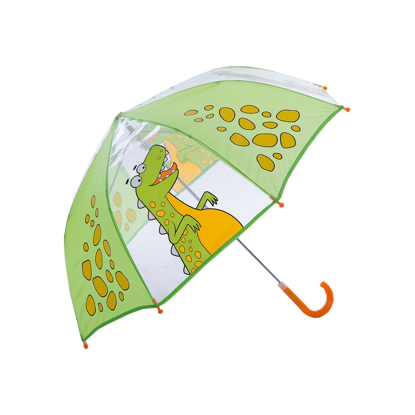 Зонт детский Динозаврик, 46см.Яркий и удобный зонтик для малышей Динозаврик. Радиус: 46 см. Длина ручки: 57 см.<br><br>Ширина мм: 615<br>Глубина мм: 500<br>Высота мм: 800<br>Вес г: 210<br>Возраст от месяцев: 36<br>Возраст до месяцев: 2147483647<br>Пол: Унисекс<br>Возраст: Детский<br>SKU: 5508504