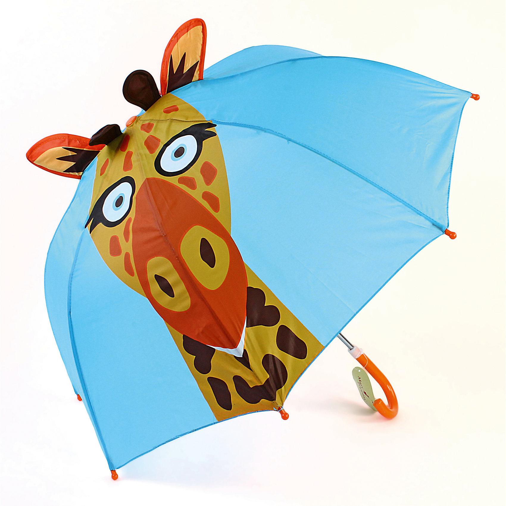 Зонт детский Жираф, 46см.Зонты детские<br>Детский зонтик-тросточка с забавным жирафом на куполе защитит ребенка от непогоды. Зонтик не боится дождя и ветра благодаря прочному креплению купола к каркасу. Технические характеристики: Механическая система складывания; Концы спиц закрыты пластиковыми шариками; Пластиковый фиксатор на стержне зонтика; Радиус купола - 46 см.<br><br>Ширина мм: 590<br>Глубина мм: 500<br>Высота мм: 500<br>Вес г: 250<br>Возраст от месяцев: 36<br>Возраст до месяцев: 2147483647<br>Пол: Унисекс<br>Возраст: Детский<br>SKU: 5508507