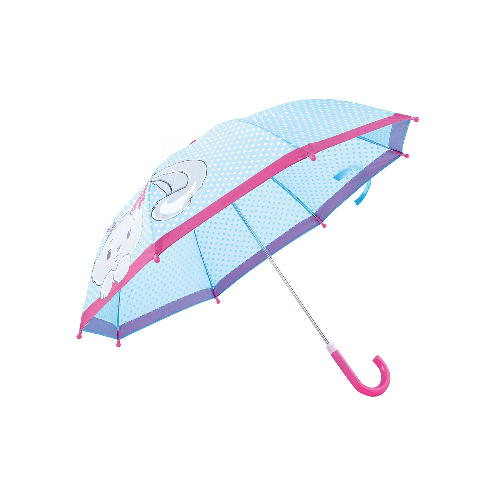Зонт детский Зайка, 41см.Яркий и удобный зонтик для малышей Зайка. Радиус: 41 см. Длина ручки: 57 см.<br><br>Ширина мм: 535<br>Глубина мм: 500<br>Высота мм: 800<br>Вес г: 200<br>Возраст от месяцев: 36<br>Возраст до месяцев: 2147483647<br>Пол: Женский<br>Возраст: Детский<br>SKU: 5508508