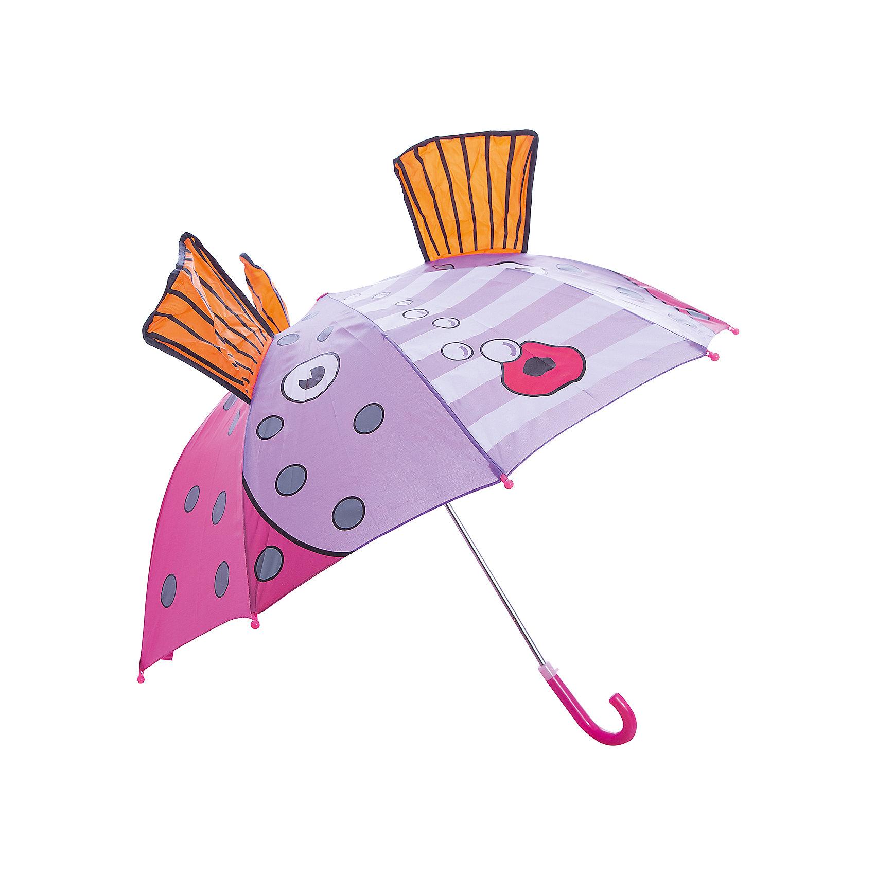 Зонт детский Золотая рыбка, 46см.Зонты детские<br>Зонт детский Золотая рыбка, 46см., Mary Poppins (Мэри Поппинс)<br><br>Характеристики:<br><br>• устойчив к ветру<br>• система складывания: механическая<br>• прочное крепление купола<br>• радиус купола: 46 см<br>• длина ручки: 57 см<br>• пластиковые насадки на спицах<br>• материал: текстиль, металл, пластик<br>• размер упаковки: 58х4х4 см<br><br>Зонтик Золотая рыбка от Mary Poppins порадует малыша в непогоду. Купол изготовлен из прочного непромокаемого материала, который легко очищается при необходимости. Для безопасности ребенка на спицах предусмотрены круглые пластиковые наконечники. Усиленная конструкция зонта не боится сильного ветра и дождя. Купол оформлен красочным изображением в виде рыбки и дополнен объемными плавниками.<br><br>Зонт детский Золотая рыбка, 46см., Mary Poppins (Мэри Поппинс) можно купить в нашем интернет-магазине.<br><br>Ширина мм: 580<br>Глубина мм: 700<br>Высота мм: 400<br>Вес г: 245<br>Возраст от месяцев: 36<br>Возраст до месяцев: 2147483647<br>Пол: Женский<br>Возраст: Детский<br>SKU: 5508510