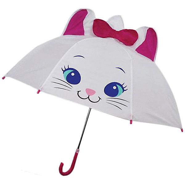 Зонт детский Киска, 46см.Зонты детские<br>Зонт детский Киска, 46см., Mary Poppins (Мэри Поппинс)<br><br>Характеристики:<br><br>• устойчив к ветру<br>• система складывания: механическая<br>• прочное крепление купола<br>• радиус купола: 46 см<br>• длина ручки: 57 см<br>• пластиковые насадки на спицах<br>• материал: текстиль, металл, пластик<br>• размер упаковки: 58х4х4 см<br><br>Детский зонт Киска защитит малыша от дождя и порадует красивым дизайном. Непромокаемый купол имеет широкие поля, защищающие от промокания. Интересное оформление в виде кошечки с объемными ушками и бантом поднимут малышке настроение в непогоду. Для безопасности ребенка на концах спиц находятся пластиковые шарики. Купол надежно крепится к каркасу для большей устойчивости к ветру и дождю.<br><br>Зонт детский Киска, 46см., Mary Poppins (Мэри Поппинс) Вы можете купить в нашем интернет-магазине.<br><br>Ширина мм: 580<br>Глубина мм: 600<br>Высота мм: 800<br>Вес г: 250<br>Возраст от месяцев: 36<br>Возраст до месяцев: 2147483647<br>Пол: Женский<br>Возраст: Детский<br>SKU: 5508511