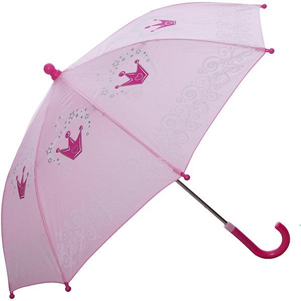 Зонт детский Корона, 41 см.Зонты детские<br>Зонт детский Корона, 41 см., Mary Poppins (Мэри Поппинс)<br><br>Характеристики:<br><br>• устойчив к ветру<br>• система складывания: механическая<br>• прочное крепление купола<br>• радиус купола: 41 см<br>• длина ручки: 57 см<br>• пластиковые насадки на спицах<br>• материал: текстиль, металл, пластик, клеенка<br>• размер упаковки: 58х4х8 см<br><br>Зонт Корона порадует вас изысканным дизайном и качественным исполнением. Купол зонта выполнен в нежно-розовом цвете с изображением маленьких корон. Такой зонт станет прекрасным дополнением к образу юной принцессы. Изделие имеет прочную конструкцию, устойчивую к дождю и ветру. На спицах есть пластиковые наконечники, выполняющие защитную функцию.<br><br>Зонт детский Корона, 41 см., Mary Poppins (Мэри Поппинс) можно купить в нашем интернет-магазине.<br><br>Ширина мм: 560<br>Глубина мм: 400<br>Высота мм: 800<br>Вес г: 200<br>Возраст от месяцев: 36<br>Возраст до месяцев: 2147483647<br>Пол: Женский<br>Возраст: Детский<br>SKU: 5508514