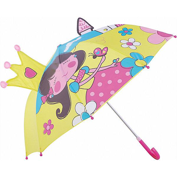 Зонт детский Маленькая принцесса, 46см.Зонты детские<br>Зонт детский Маленькая принцесса, 46см., Mary Poppins (Мэри Поппинс)<br><br>Характеристики:<br><br>• устойчив к ветру<br>• система складывания: механическая<br>• прочное крепление купола<br>• радиус купола: 46 см<br>• длина ручки: 57 см<br>• пластиковые насадки на спицах<br>• материал: текстиль, металл, пластик<br>• размер упаковки: 58х4х8 см<br><br>Зонт Маленькая принцесса защитит девочку от дождя и поднимет настроение в непогоду. Купол зонтика выполнен из водонепроницаемого материала и оформлен красочным изображением принцессы. Юная леди точно не расстроится, если начнется дождь. Купол зонта прочно крепится к каркасу, благодаря чему, зонт устойчив к сильному ветру и дождю. На концах спиц расположены закругленные наконечники.<br><br>Зонт детский Маленькая принцесса, 46см., Mary Poppins (Мэри Поппинс) вы можете купить  в нашем интернет-магазине.<br>Ширина мм: 580; Глубина мм: 600; Высота мм: 800; Вес г: 250; Возраст от месяцев: 36; Возраст до месяцев: 2147483647; Пол: Женский; Возраст: Детский; SKU: 5508515;