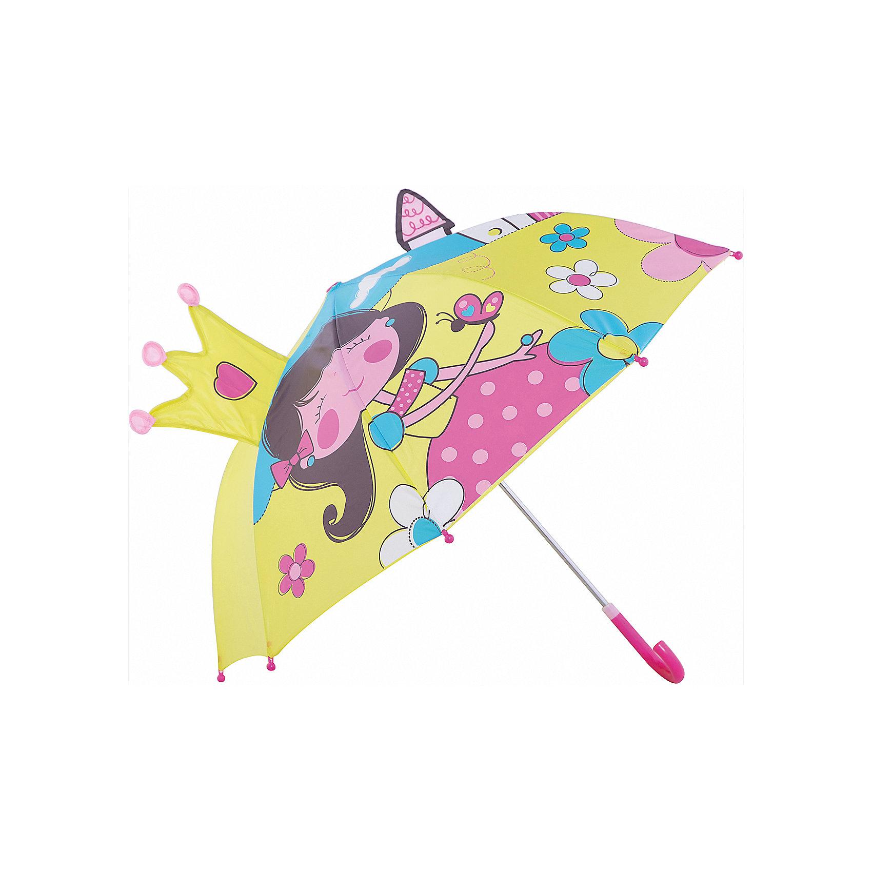 Зонт детский Маленькая принцесса, 46см.Зонты детские<br>Зонт детский Маленькая принцесса, 46см., Mary Poppins (Мэри Поппинс)<br><br>Характеристики:<br><br>• устойчив к ветру<br>• система складывания: механическая<br>• прочное крепление купола<br>• радиус купола: 46 см<br>• длина ручки: 57 см<br>• пластиковые насадки на спицах<br>• материал: текстиль, металл, пластик<br>• размер упаковки: 58х4х8 см<br><br>Зонт Маленькая принцесса защитит девочку от дождя и поднимет настроение в непогоду. Купол зонтика выполнен из водонепроницаемого материала и оформлен красочным изображением принцессы. Юная леди точно не расстроится, если начнется дождь. Купол зонта прочно крепится к каркасу, благодаря чему, зонт устойчив к сильному ветру и дождю. На концах спиц расположены закругленные наконечники.<br><br>Зонт детский Маленькая принцесса, 46см., Mary Poppins (Мэри Поппинс) вы можете купить  в нашем интернет-магазине.<br><br>Ширина мм: 580<br>Глубина мм: 600<br>Высота мм: 800<br>Вес г: 250<br>Возраст от месяцев: 36<br>Возраст до месяцев: 2147483647<br>Пол: Женский<br>Возраст: Детский<br>SKU: 5508515