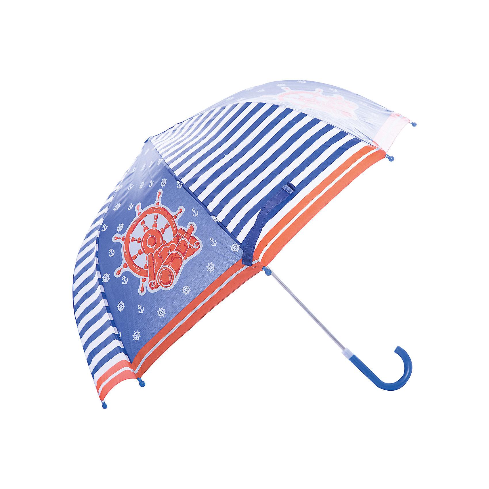 Зонт детский Море, 46 см.Детский зонтик-тросточка Море защитит ребенка от непогоды. Зонтик не боится дождя и ветра благодаря прочному креплению купола к каркасу. Технические характеристики: Механическая система складывания; Концы спиц закрыты пластиковыми шариками; Пластиковый фиксатор на стержне зонтика; Радиус купола - 46 см.<br><br>Ширина мм: 580<br>Глубина мм: 400<br>Высота мм: 800<br>Вес г: 200<br>Возраст от месяцев: 36<br>Возраст до месяцев: 2147483647<br>Пол: Унисекс<br>Возраст: Детский<br>SKU: 5508516