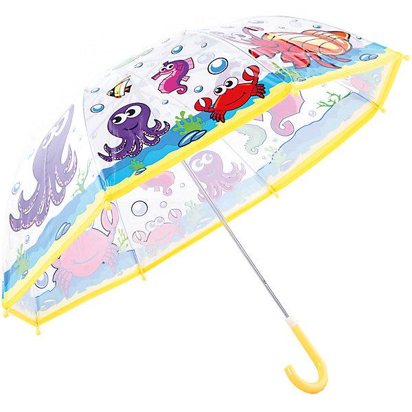 Зонт детский Подводный мир, 46 см.Зонты детские<br>Зонт детский Подводный мир, 46 см., Mary Poppins (Мэри Поппинс)<br><br>Характеристики:<br><br>• устойчив к ветру<br>• система складывания: механическая<br>• прочное крепление купола<br>• радиус купола: 46 см<br>• длина ручки: 57 см<br>• пластиковый фиксатор на стержне зонтика<br>• пластиковые насадки на спицах<br>• материал: текстиль, металл, пластик<br>• размер упаковки: 60х6х8 см<br><br>Обладатель великолепного зонтика Подводный мир точно не загрустит в непогоду! Качественный зонт надежно защитит от ветра, а прозрачный купол с изображением веселых жителей подводного мира поднимет настроение. Купол надежно прикреплен к металлическому каркасу, благодаря чему, ему не страшен даже сильный ветер. На конце спиц расположены закругленные пластиковые наконечники. Закругленная ручка с пластиковым основанием удобна для детских рук.<br><br>Зонт детский Подводный мир, 46 см. , Mary Poppins (Мэри Поппинс)вы можете купить в нашем интернет-магазине.<br>Ширина мм: 600; Глубина мм: 200; Высота мм: 700; Вес г: 250; Возраст от месяцев: 36; Возраст до месяцев: 2147483647; Пол: Унисекс; Возраст: Детский; SKU: 5508519;