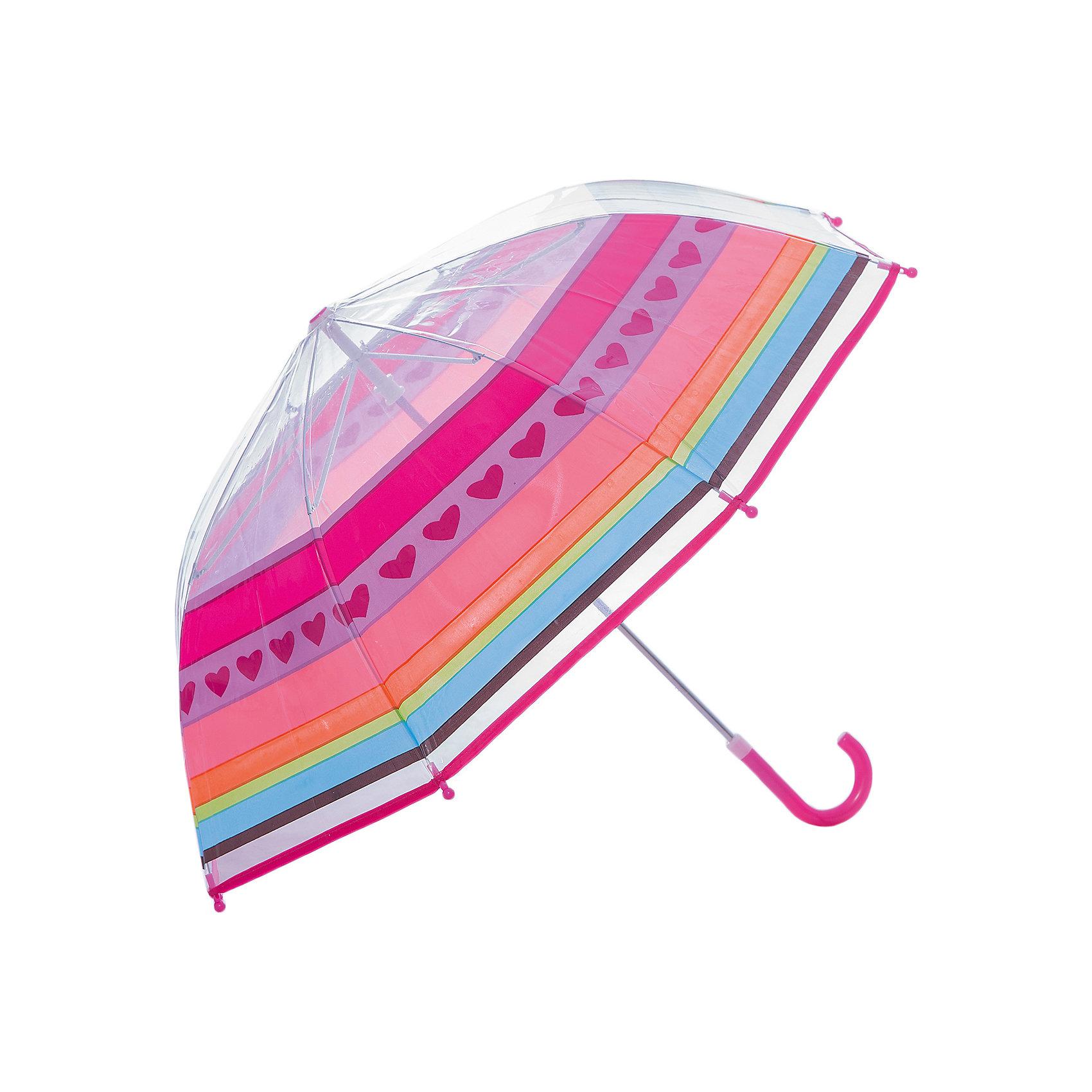 Зонт детский Радуга, 46 см.Зонты детские<br>Детский зонтик-тросточка Радуга защитит ребенка от непогоды, потому что не боится дождя и ветра благодаря прочному креплению купола к каркасу. Изогнутая ручка позволяет крепко держать зонт в руках. Технические характеристики: Механическая система складывания; Концы спиц закрыты пластиковыми шариками; Пластиковый фиксатор на стержне зонтика; Радиус купола - 46 см.<br><br>Ширина мм: 585<br>Глубина мм: 600<br>Высота мм: 800<br>Вес г: 250<br>Возраст от месяцев: 36<br>Возраст до месяцев: 2147483647<br>Пол: Унисекс<br>Возраст: Детский<br>SKU: 5508522