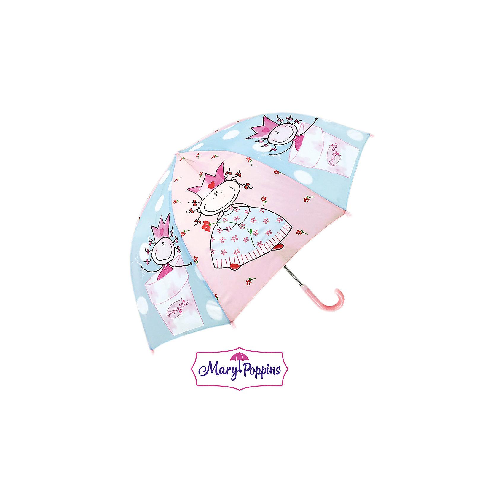 Зонт детский Смешная принцесса, 46см.Зонты детские<br>Зонт детский Смешная принцесса, 46 см., Mary Poppins (Мэри Поппинс)<br><br>Характеристики:<br><br>• устойчив к ветру<br>• система складывания: механическая<br>• прочное крепление купола<br>• радиус купола: 46 см<br>• длина ручки: 57 см<br>• пластиковые насадки на спицах<br>• материал: полиэстер, металл, пластик<br>• размер упаковки: 58х4х4 см<br><br>Зонт Смешная принцесса порадует ребенка красивым дизайном, а родители смогут оценить высокое качество изготовления. Купол зонта выполнен в нежно-розовом цвете, украшенном изображениями принцесс. Купол надежно закреплен на металлическом каркасе и устойчив даже к сильному ветру. Спицы дополнены закругленными наконечниками из пластика. В собранном виде зонтик застегивается на липучку. Красивый зонтик защит ребенка от дождя и поднимет настроение в непогоду.<br><br>Зонт детский Смешная принцесса, 46 см., Mary Poppins (Мэри Поппинс) вы можете купить в нашем интернет-магазине.<br><br>Ширина мм: 580<br>Глубина мм: 400<br>Высота мм: 400<br>Вес г: 200<br>Возраст от месяцев: 36<br>Возраст до месяцев: 2147483647<br>Пол: Женский<br>Возраст: Детский<br>SKU: 5508524