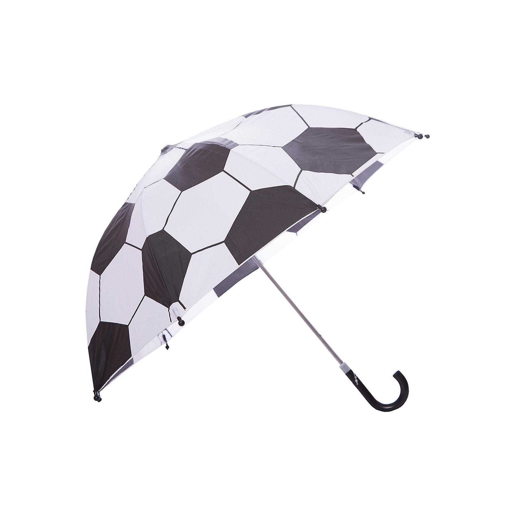 Зонт детский Футбол, 46 см.Детский зонтик-тросточка с футбольным принтом защитит ребенка от непогоды. Зонтик не боится дождя и ветра благодаря прочному креплению купола к каркасу. Изогнутая ручка позволяет крепко держать зонт в руках. <br> Технические характеристики: <br> <br> <br> Механическая система складывания; <br> <br> Концы спиц закрыты пластиковыми шариками; <br> <br> Пластиковый фиксатор на стержне зонтика; <br> <br> Радиус купола - 46 см.<br><br>Ширина мм: 615<br>Глубина мм: 500<br>Высота мм: 800<br>Вес г: 200<br>Возраст от месяцев: 36<br>Возраст до месяцев: 2147483647<br>Пол: Мужской<br>Возраст: Детский<br>SKU: 5508528