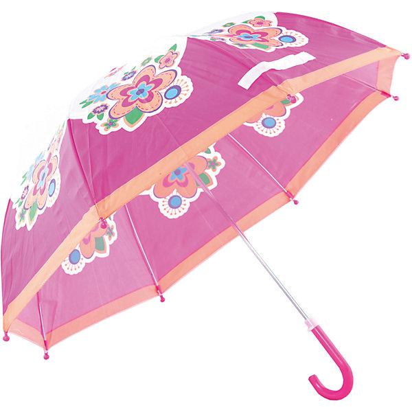 Зонт детский Цветы, 46 см.Зонты детские<br>Зонт детский Цветы, 46 см., Mary Poppins (Мэри Поппинс)<br><br>Характеристики:<br><br>• устойчив к ветру<br>• система складывания: механическая<br>• прочное крепление купола<br>• радиус купола: 46 см<br>• длина ручки: 57 см<br>• пластиковые насадки на спицах<br>• материал: текстиль, металл, пластик<br>• размер упаковки: 58х4х4 см<br><br>Красивый и надёжный зонт - необходимый аксессуар для каждого ребёнка. Зонт Цветы не только защитит от дождя, но и поднимет настроение в непогоду. Купол надёжно прикреплен к металлическому каркасу, благодаря чему зонт устойчив к порывам ветра. Купол оформлен красивым изображением цветов на ярко-розовом фоне. На концах спиц есть закругленные пластиковые наконечники.<br><br>Зонт детский Цветы, 46 см., Mary Poppins (Мэри Поппинс) вы можете купить в нашем интернет-магазине.<br>Ширина мм: 580; Глубина мм: 400; Высота мм: 400; Вес г: 200; Возраст от месяцев: 36; Возраст до месяцев: 2147483647; Пол: Женский; Возраст: Детский; SKU: 5508531;