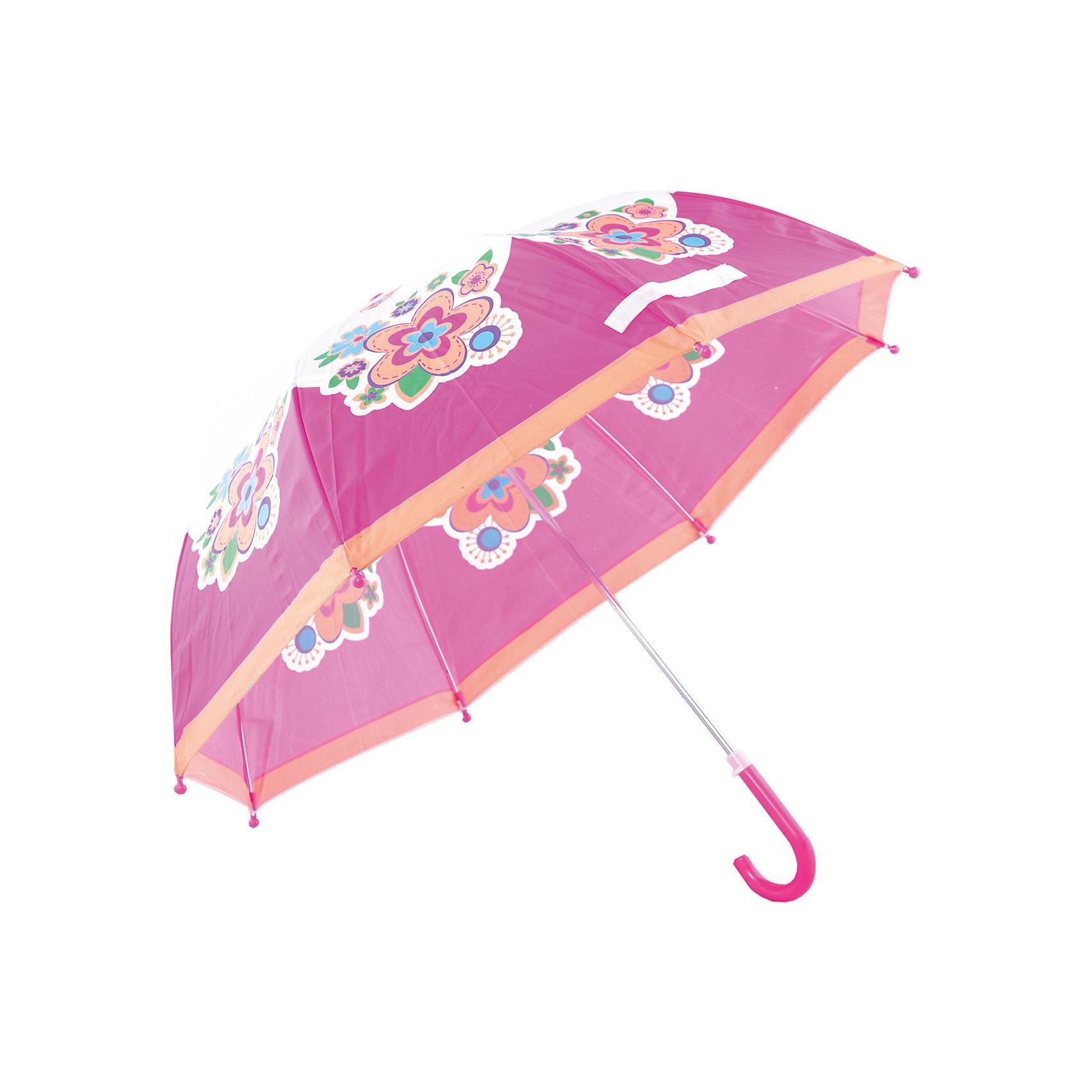 Зонт детский Цветы, 46 см.Зонты детские<br>Яркий и удобный зонтик для малышей Цветы. Радиус: 46 см. Длина ручки: 57 см.<br><br>Ширина мм: 580<br>Глубина мм: 400<br>Высота мм: 400<br>Вес г: 200<br>Возраст от месяцев: 36<br>Возраст до месяцев: 2147483647<br>Пол: Женский<br>Возраст: Детский<br>SKU: 5508531