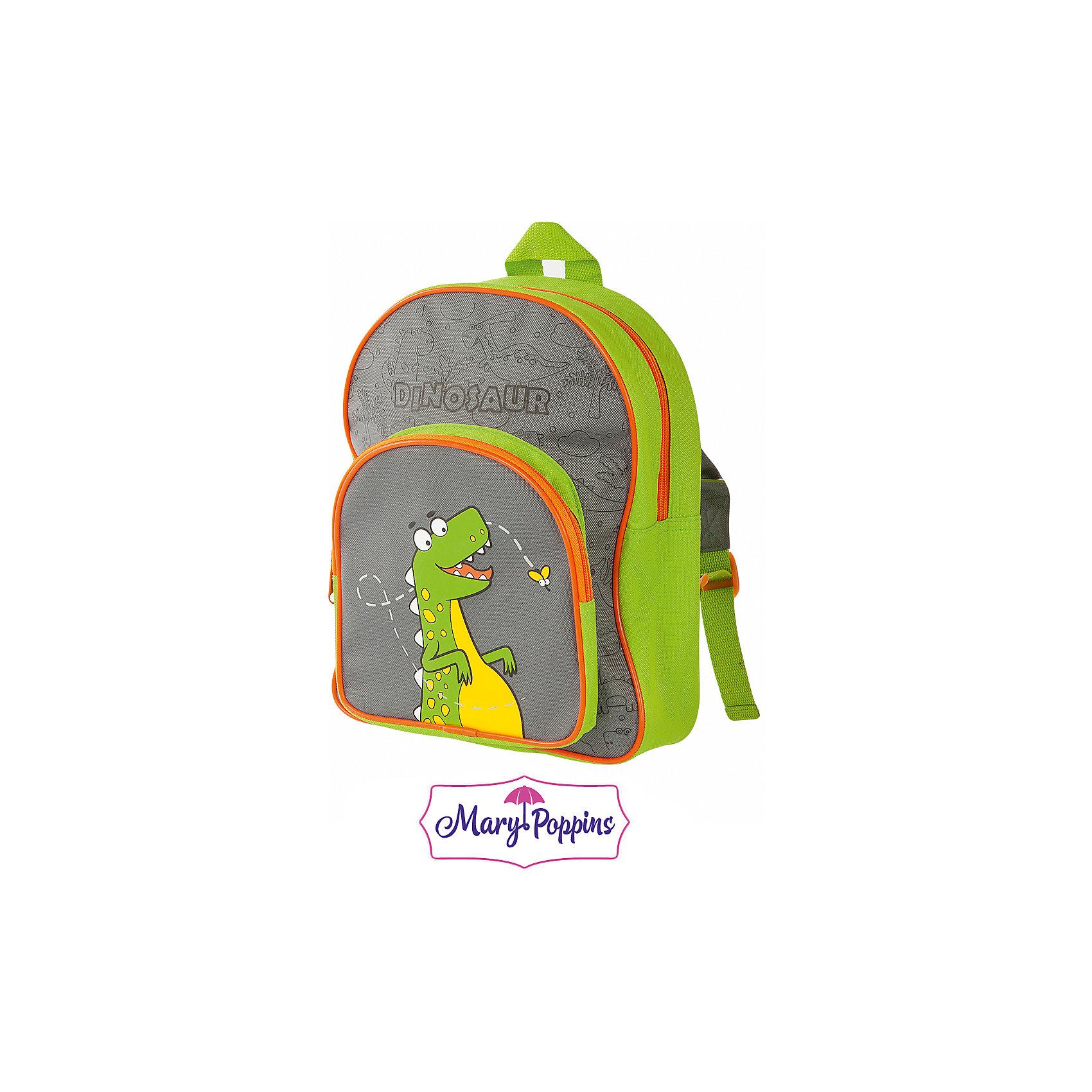 Рюкзак Дино 23*9*29см.Детские рюкзаки<br>Рюкзак Дино 23*9*29см., Mary Poppins (Мэри Поппинс)<br><br>Характеристики:<br><br>• легкий и удобный<br>• регулируемые лямки<br>• застегивается на молнию<br>• размер: 23х9х29 см<br>• материал: текстиль, металл<br>• размер упаковки: 23х9х29 см<br>• вес: 217 грамм<br><br>Рюкзак Дино поможет ребенку сохранить и перенести необходимые принадлежности, игрушки и еду для перекуса между занятиями. Рюкзак имеет одно основное отделение и одно внешнее. Оба отделения надежно застегиваются на молнию. Лямки рюкзака можно отрегулировать по росту и возрасту ребенка. Лицевая сторона оформлена ярким принтом с динозавриком, следящим за мухой.<br><br>Рюкзак Дино 23*9*29см., Mary Poppins (Мэри Поппинс) Можно купить в нашем интернет-магазине.<br><br>Ширина мм: 230<br>Глубина мм: 290<br>Высота мм: 900<br>Вес г: 217<br>Возраст от месяцев: 36<br>Возраст до месяцев: 2147483647<br>Пол: Мужской<br>Возраст: Детский<br>SKU: 5508537