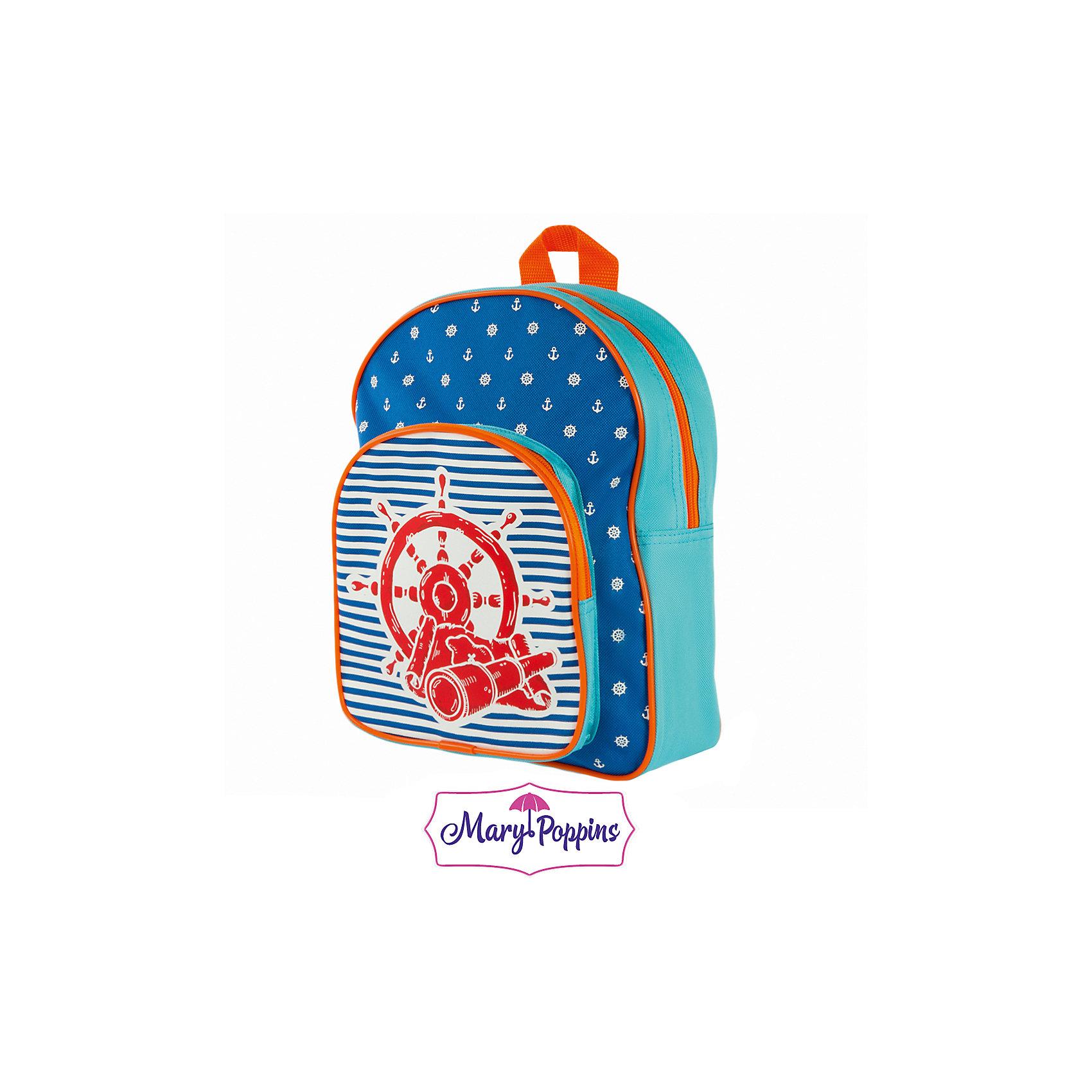 Рюкзак Море 25*10*30см.Детские рюкзаки<br>Рюкзак Море 25*10*30см., Mary Poppins (Мэри Поппинс)<br><br>Характеристики:<br><br>• легкий и удобный<br>• боковые сетчатые карманы<br>• застегивается на молнию<br>• размер: 25х10х30см<br>• материал: текстиль<br>• размер упаковки: 25х10х30 см<br>• вес: 217 грамм<br><br>Стильный и легкий рюкзачок от Mary Poppins  порадует любителей морской тематики. Рюкзак выполнен в морском стиле и дополнен изображением штурвала и морской звезды. Рюкзак имеет одно основное и одно дополнительное отделение, застегивающиеся на молнию. Ребенок сможет сложить в них любимые тетрадки, учебники, альбомы и канцелярские принадлежности.<br><br>Рюкзак Море 25*10*30см. , Mary Poppins (Мэри Поппинс)Вы можете купить в нашем интернет-магазине.<br><br>Ширина мм: 250<br>Глубина мм: 300<br>Высота мм: 1000<br>Вес г: 217<br>Возраст от месяцев: 36<br>Возраст до месяцев: 2147483647<br>Пол: Мужской<br>Возраст: Детский<br>SKU: 5508540