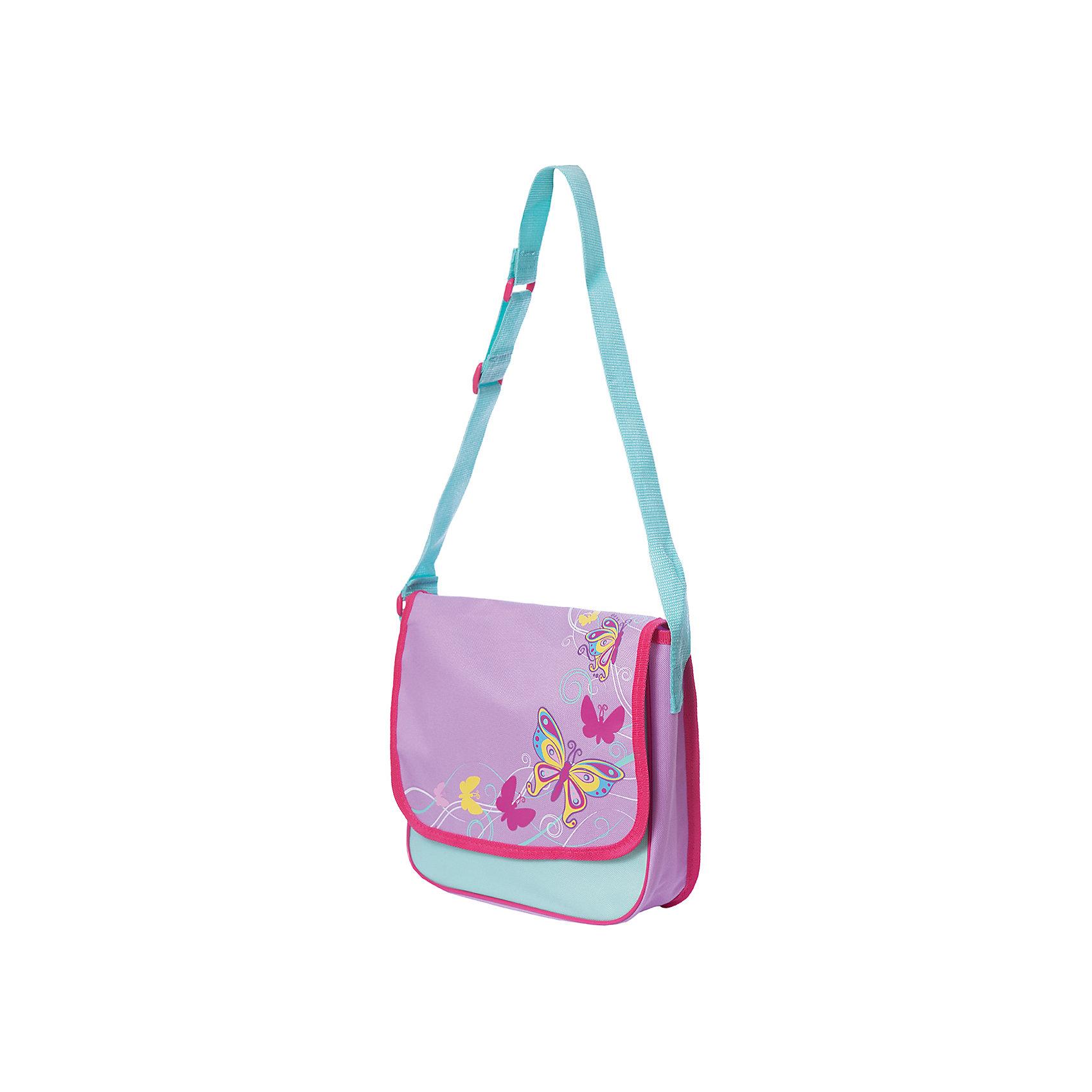 Сумка Бабочки 30*8*24 см.Бабочки - это сумочка для девочек от компании Mary Poppins с одной наплечной лямкой и клапаном. Клапан с лицевой стороны украшен ярким принтом с крупными разноцветными бабочками. Стильная сумка достаточно вместительна, чтобы девочке было удобно носить в ней личные вещи, гаджеты, школьные принадлежности и предметы одежды. Интересное сочетание цветов и современный дизайн сумки обязательно привлекут внимание юных модниц.<br>Лидеры продаж Сумки<br><br>Ширина мм: 300<br>Глубина мм: 240<br>Высота мм: 800<br>Вес г: 168<br>Возраст от месяцев: 276<br>Возраст до месяцев: 2147483647<br>Пол: Женский<br>Возраст: Детский<br>SKU: 5508549