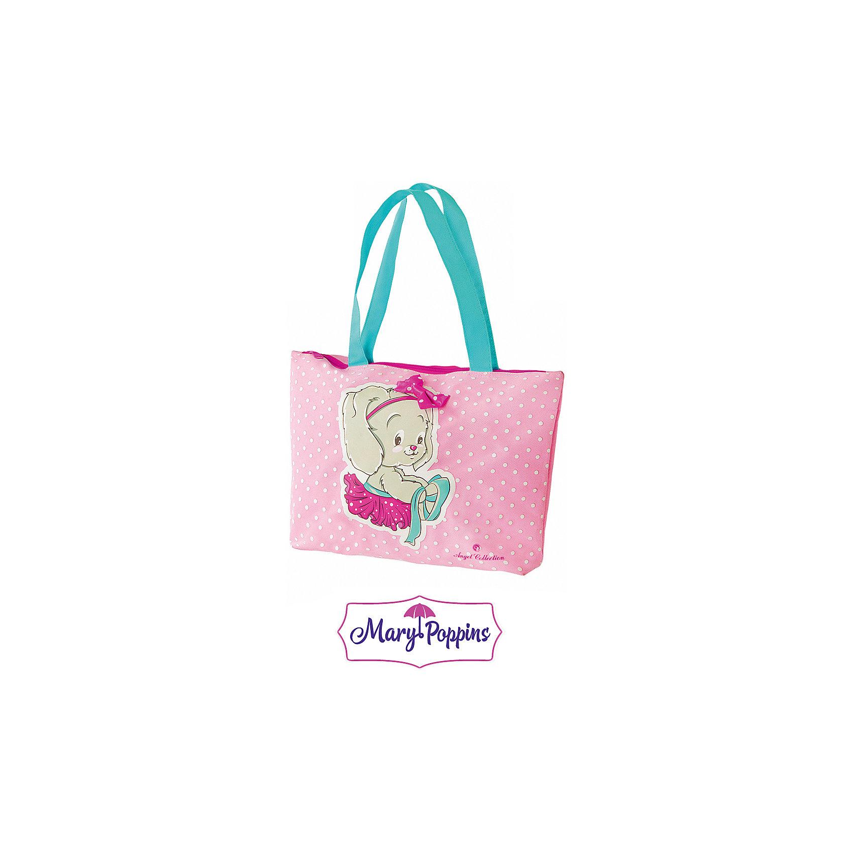 Сумка Зайка 33*8*23 см.Зайка от компании Mary Poppins - это симпатичная детская сумка, которая представлена в розовой расцветке. Данная модель очень удобна, так как у нее всего одно основное отделение, куда девочка сможет складывать все необходимые вещи или предметы. Несмотря на довольно малый внешний вид, представленная сумка достаточно вместительная.<br><br>Ширина мм: 330<br>Глубина мм: 230<br>Высота мм: 800<br>Вес г: 78<br>Возраст от месяцев: 288<br>Возраст до месяцев: 2147483647<br>Пол: Женский<br>Возраст: Детский<br>SKU: 5508550