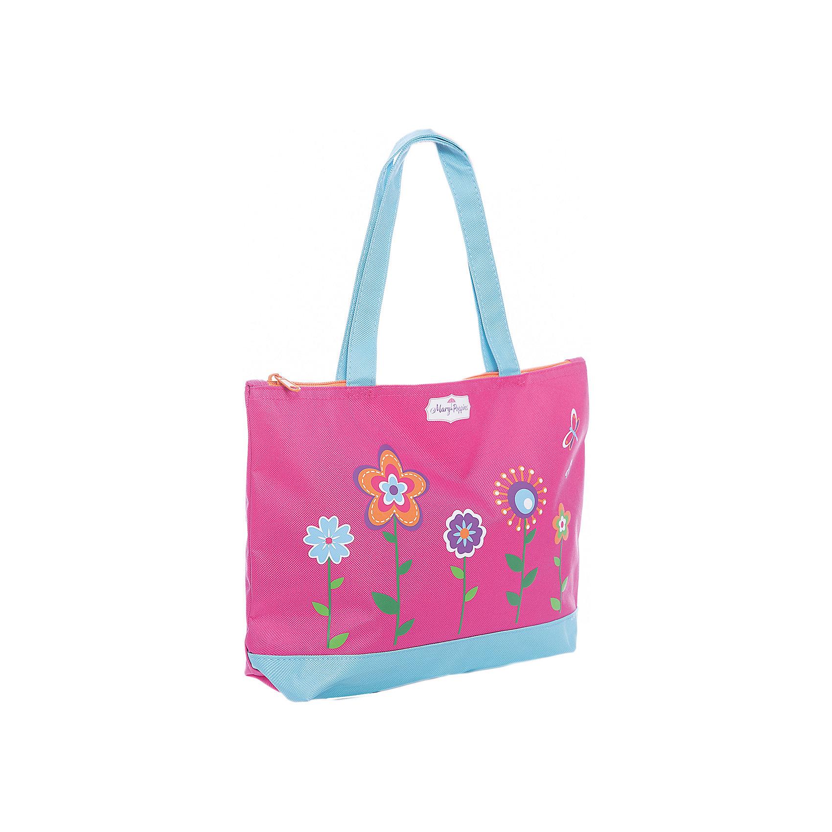 Сумка Цветы 33*8*23 см.Детские сумки<br>Сумка Цветы, представленная торговой маркой Mary Poppins, понравится многим девочкам. Она очень вместительная и удобная, в такую сумку можно сложить школьные письменные принадлежности или же игрушки девочки. Сумка выполнена в розово-голубом цвете, а также украшена различными яркими цветочками и бабочками.<br><br>Ширина мм: 330<br>Глубина мм: 230<br>Высота мм: 800<br>Вес г: 78<br>Возраст от месяцев: 36<br>Возраст до месяцев: 2147483647<br>Пол: Женский<br>Возраст: Детский<br>SKU: 5508552