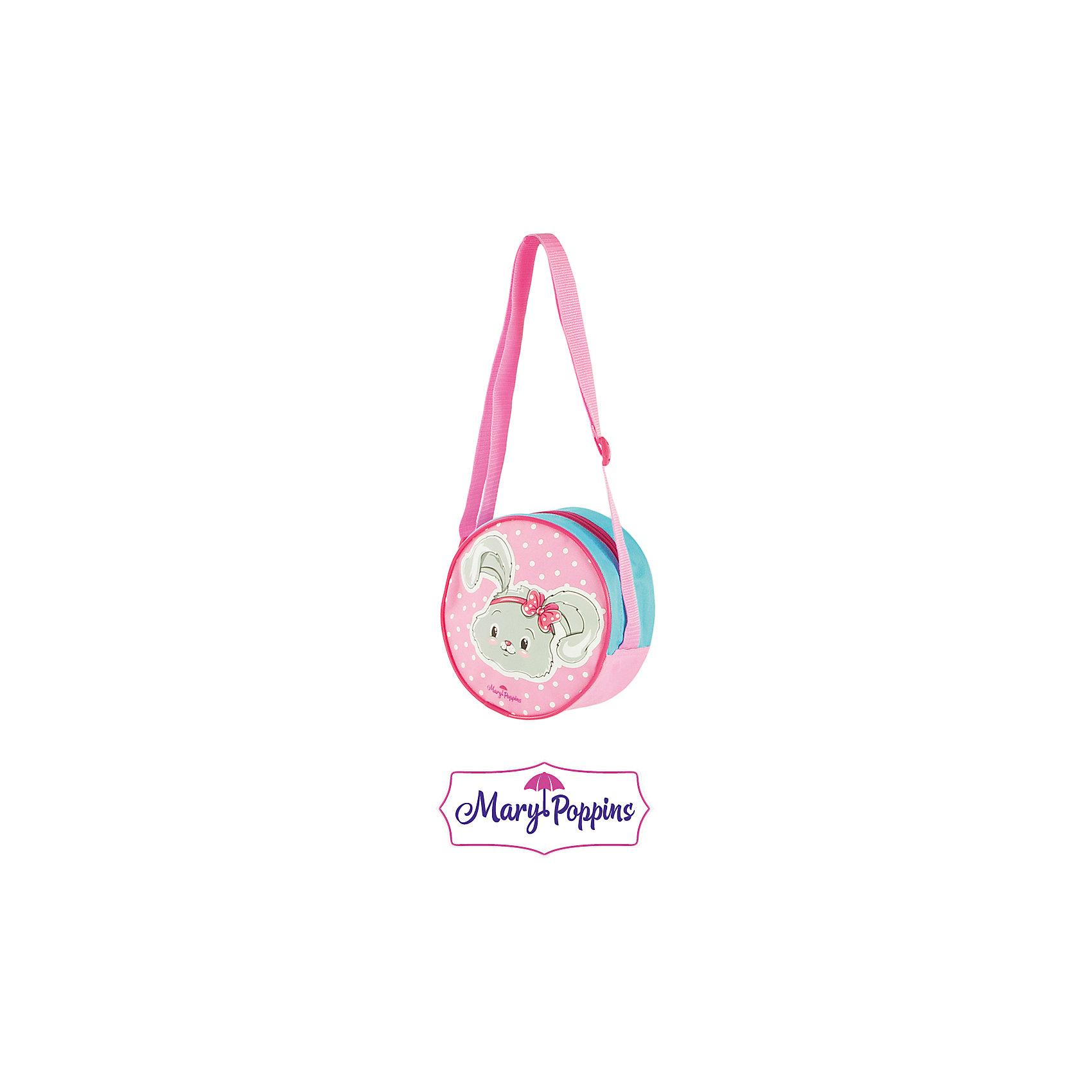 Сумочка Зайка 17 см.Детские сумки<br>Зайка от компании Mary Poppins - это симпатичная детская сумка, которая представлена в нежно-розовой расцветке. На лицевой части сумки изображена милая мордочка зайца, что девочка несомненно оценит. В такой сумке девочка сможет транспортировать необходимые предметы. Высоту положения сумки можно регулировать при помощи ремней.<br><br>Ширина мм: 170<br>Глубина мм: 190<br>Высота мм: 800<br>Вес г: 65<br>Возраст от месяцев: 36<br>Возраст до месяцев: 2147483647<br>Пол: Женский<br>Возраст: Детский<br>SKU: 5508560