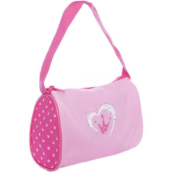 Сумочка Корона на длинной ручке 20*25 см.Детские сумки<br>Сумочка Корона на длинной ручке 20*25 см., Mary Poppins (Мэри Поппинс)<br><br>Характеристики:<br><br>• яркий дизайн<br>• вместительное отделение<br>• удлиненная ручка<br>• размер: 20х10х25 см<br>• материал: текстиль, пластик<br>• размер упаковки: 20х10х25 см<br>• вес: 75 грамм<br><br>Сумочка Корона не оставит юную модницу равнодушной! Красивый дизайн в розовым тонах и принт с изображением короны подчеркнут элегантность образа девочки. Сумка изготовлена из прочного текстиля. Она имеет одно вместительное отделение и одну удлиненную ручку, позволяющую удобно носить сумку на плече.<br><br>Сумочку Корона на длинной ручке 20*25 см., Mary Poppins (Мэри Поппинс) вы можете купить в нашем интернет-магазине.<br><br>Ширина мм: 200<br>Глубина мм: 250<br>Высота мм: 1000<br>Вес г: 75<br>Возраст от месяцев: 36<br>Возраст до месяцев: 2147483647<br>Пол: Женский<br>Возраст: Детский<br>SKU: 5508563