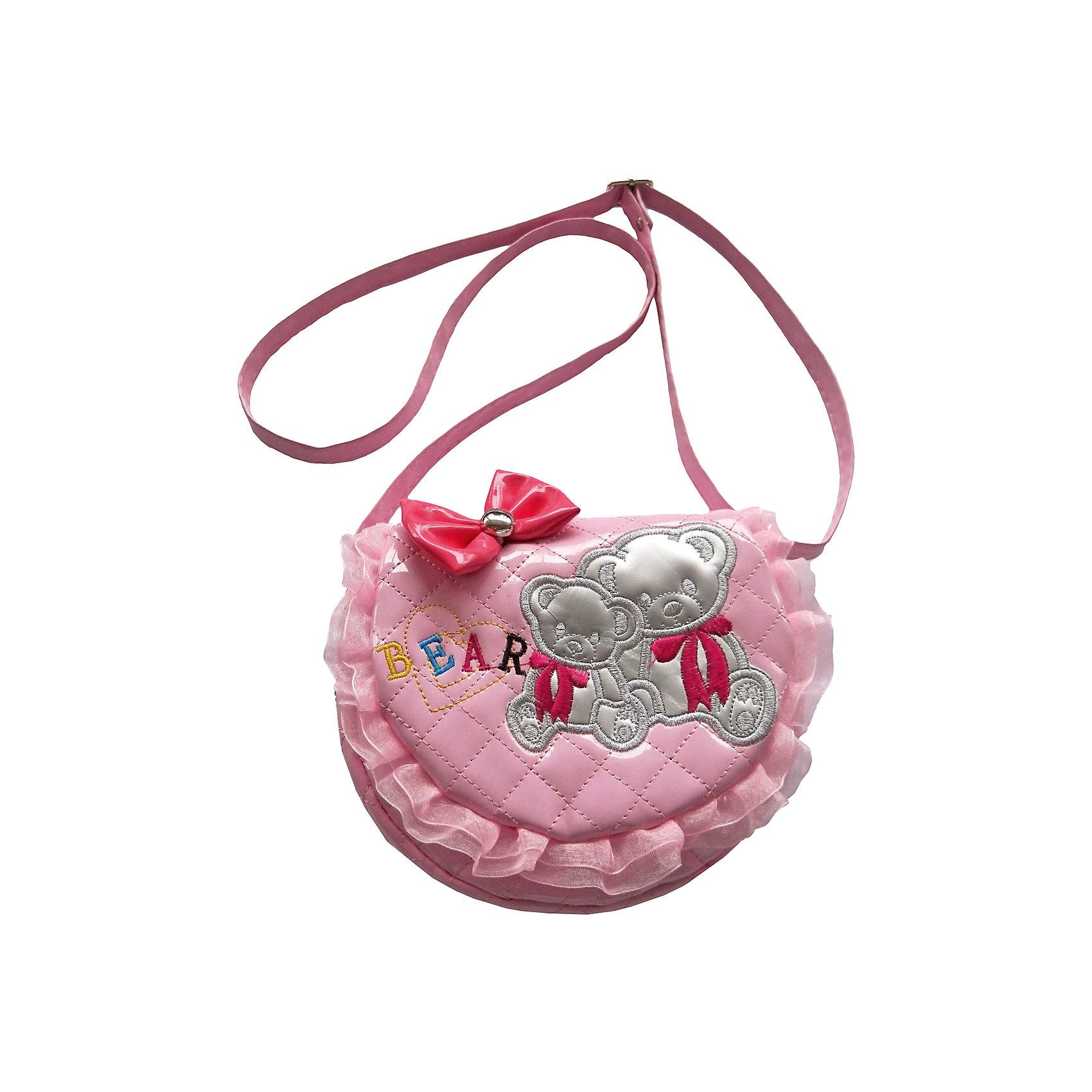 Сумочка Мишки на плечо, 20*16 см., розоваяКаждая маленькая модница точно знает, как важно, чтобы сумочка подходила по цвету к туфлям! Новая коллекция сумочек для девочек выполнена в самых любимых девичьих цветах. В сумочку можно положить зеркальце, расческу и заколки - теперь все необходимое всегда под рукой! Сумочка Мишки на молнии в розовом цвете, с удобными лямками, размер: 20х16 см.<br><br>Ширина мм: 190<br>Глубина мм: 180<br>Высота мм: 400<br>Вес г: 119<br>Возраст от месяцев: 528<br>Возраст до месяцев: 2147483647<br>Пол: Женский<br>Возраст: Детский<br>SKU: 5508568