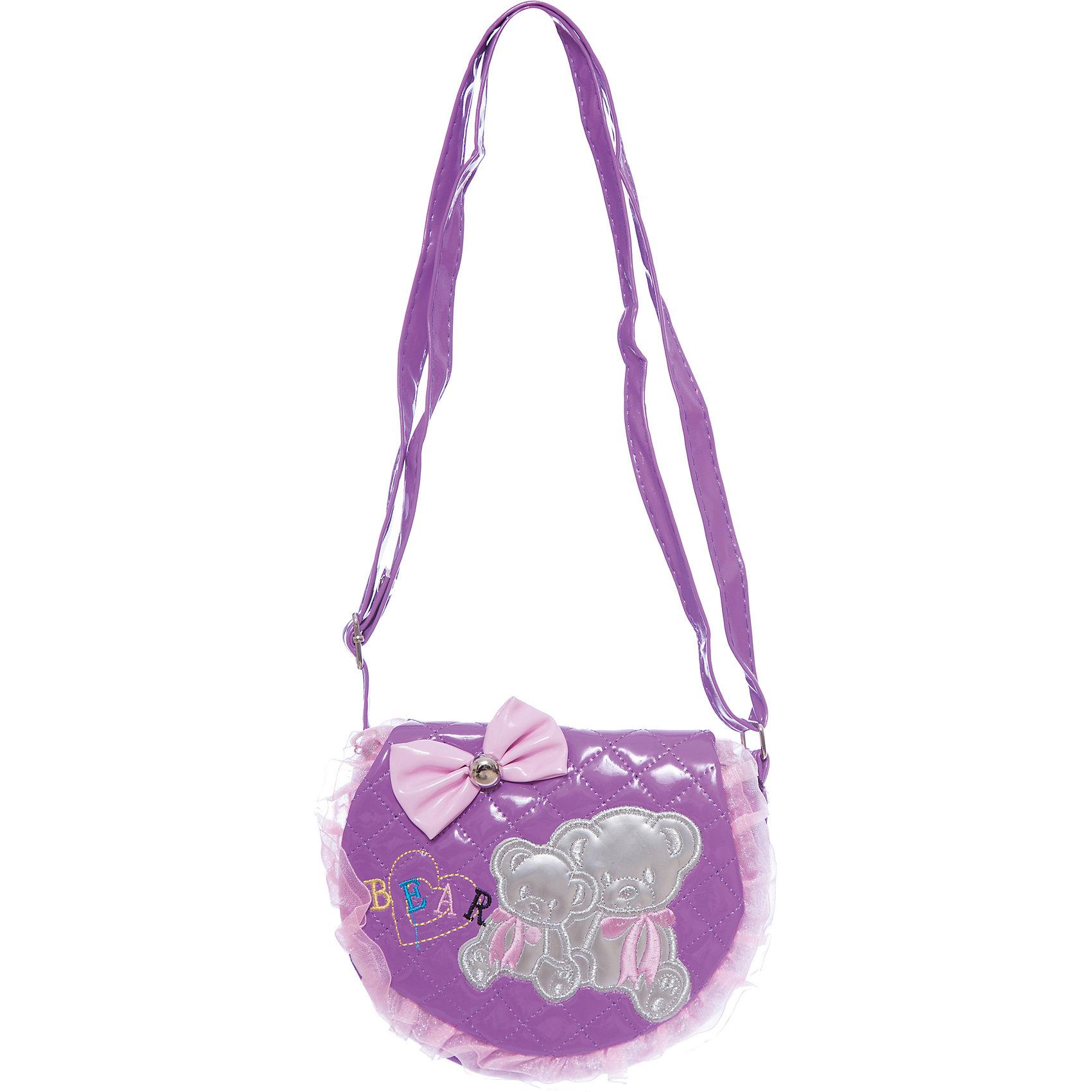 Сумочка Мишки на плечо, 20*16 см., сиреневаяДетские сумки<br>Сумочка Мишки на плечо, 20*16 см., сиреневая, Shantou Gepai (Шанту Гепаи)<br><br>Характеристики:<br><br>• длинная лямка<br>• стильный дизайн<br>• материал: текстиль<br>• цвет: сиреневый<br>• размер: 20х16 см<br>• размер упаковки: 20х16х4 см<br>• вес: 119 грамм<br><br>Маленькая стильная сумочка Мишки создана специально для юных принцесс! Девочка сможет хранить в ней свою косметику, зеркальце, заколки и другие аксессуары. Сумочка выполнена в розовых тонах, декорирована оборками, бантом и принтом с медвежатами. Удобные лямки позволяют расположить сумочку на плече.<br><br>Сумочку Мишки на плечо, 20*16 см., сиреневая, Shantou Gepai (Шанту Гепаи)можно купить в нашем интернет-магазине.<br><br>Ширина мм: 180<br>Глубина мм: 170<br>Высота мм: 300<br>Вес г: 119<br>Возраст от месяцев: 36<br>Возраст до месяцев: 2147483647<br>Пол: Женский<br>Возраст: Детский<br>SKU: 5508569
