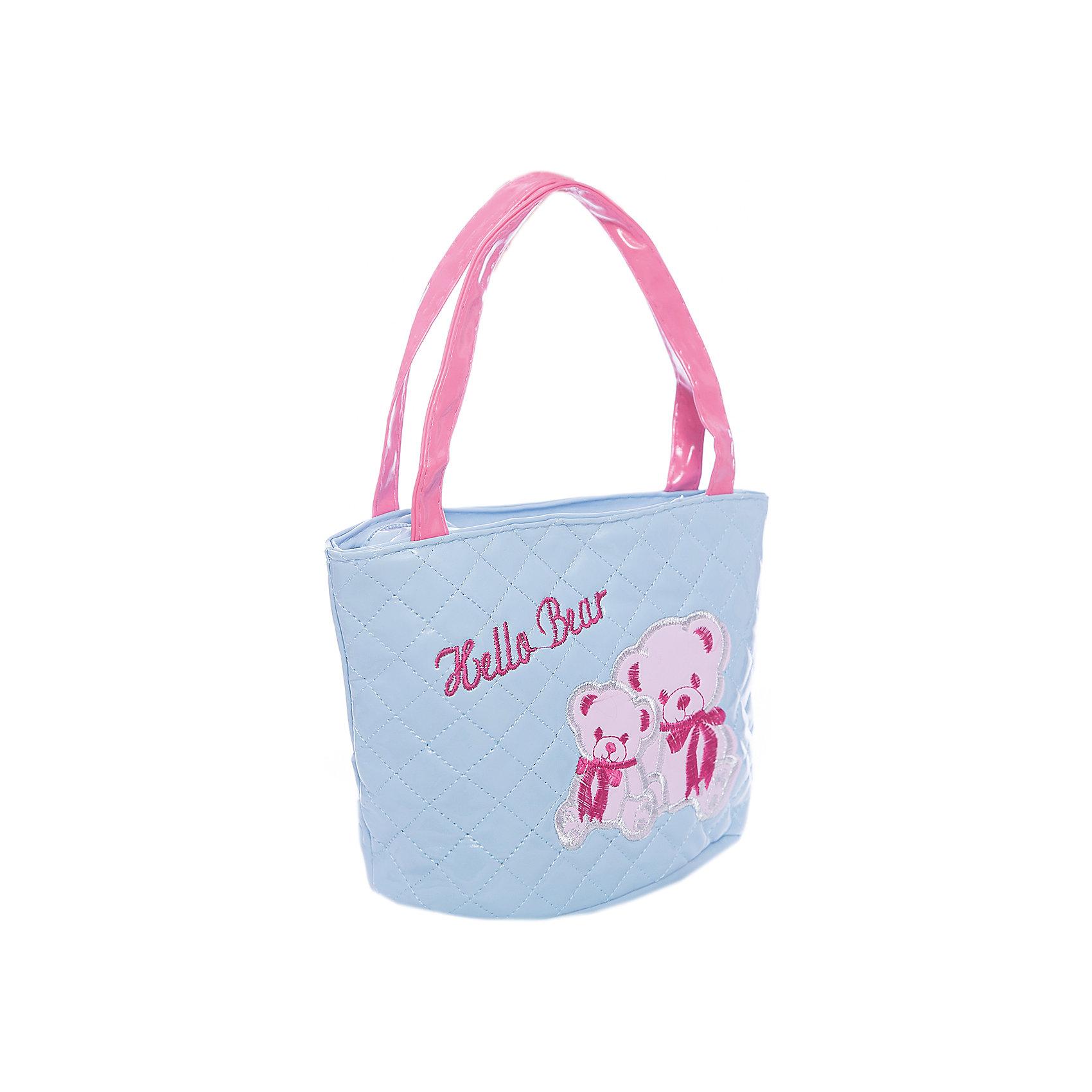 Сумочка Мишки, голубая, 18х20 см.Детские сумки<br>Сумочка Мишки, голубая, 18х20 см., Shantou Gepai (Шанту Гепаи)<br><br>Характеристики:<br><br>• две ручки<br>• застегивается на молнию<br>• стильный дизайн<br>• материал: текстиль<br>• размер: 18х20 см<br>• цвет: голубой<br>• размер упаковки: 17х13х22 см<br>• вес: 82 грамма<br><br>Легкая и удобная  сумка Мишки станет отличным дополнением к образу маленькой модницы. В ней девочка сможет разместить любимые аксессуары, косметику и другие принадлежности. Сумка застегивается на молнию и имеет две удобные ручки. Сумка выполнена в нежно-голубом цвете и декорирована изображением прелестных медвежат.<br><br>Сумочка Мишки, голубая, 18х20 см., Shantou Gepai (Шанту Гепаи) можно купить в нашем интернет-магазине.<br><br>Ширина мм: 220<br>Глубина мм: 130<br>Высота мм: 1700<br>Вес г: 82<br>Возраст от месяцев: 36<br>Возраст до месяцев: 2147483647<br>Пол: Женский<br>Возраст: Детский<br>SKU: 5508570
