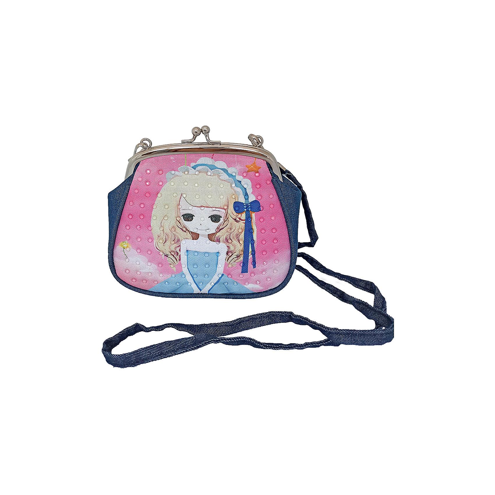 Сумочка с замочком Подружка-мечтательница, 16х14 см.Детские сумки<br>Сумочка с замочком Подружка-мечтательница, 16х14 см., Shantou Gepai (Шанту Гепаи)<br><br>Характеристики:<br><br>• ремешок в комплекте<br>• стильный дизайн<br>• материал: текстиль, металл<br>• размер: 16х14см<br>• размер упаковки: 17х17х3 см<br>• вес: 83 грамма<br><br>Маленькая удобная сумочка станет красивым и полезным аксессуаром для малышки. Девочка сможет положить в сумку косметику, расческу и другие необходимые вещицы. Удобная застежка позволит без труда открыть и закрыть сумочку при необходимости. В комплект входит ремешок, который позволит комфортно носить сумочку на плече.<br><br>Сумочку с замочком Подружка-мечтательница, 16х14 см., Shantou Gepai (Шанту Гепаи) вы можете купить в нашем интернет-магазине.<br><br>Ширина мм: 170<br>Глубина мм: 170<br>Высота мм: 300<br>Вес г: 83<br>Возраст от месяцев: 36<br>Возраст до месяцев: 2147483647<br>Пол: Женский<br>Возраст: Детский<br>SKU: 5508572