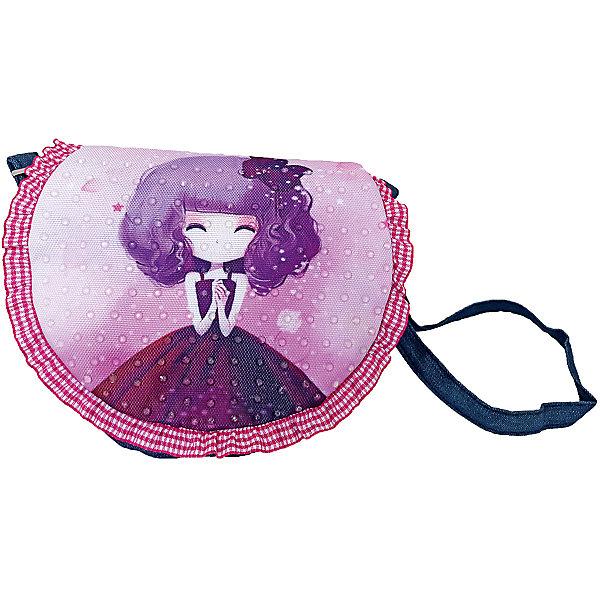 Сумочка с оборками Подружка-милашка, 19х17 см.Детские сумки<br>Сумочка с оборками Подружка-милашка, 19х17 см., Shantou Gepai (Шанту Гепаи)<br><br>Характеристики:<br><br>• ремешок в комплекте<br>• стильный дизайн<br>• материал: текстиль, металл<br>• размер: 19х17 см<br>• размер упаковки: 17х17х3 см<br>• вес: 83 грамма<br><br>Сумочка Подружка-милашка станет прекрасным дополнением к гардеробу маленькой модницы. Модель имеет длинный ремешок, который позволяет удобно расположить сумку, чтобы она не упала даже во время игр. Сумочка выполнена в бордовых и фиолетовых тонах и декорирована приятным принтом с изображением девочки.<br><br>Сумочка с оборками Подружка-милашка, 19х17 см., Shantou Gepai (Шанту Гепаи) можно купить в нашем интернет-магазине.<br><br>Ширина мм: 170<br>Глубина мм: 170<br>Высота мм: 300<br>Вес г: 83<br>Возраст от месяцев: 36<br>Возраст до месяцев: 2147483647<br>Пол: Женский<br>Возраст: Детский<br>SKU: 5508574