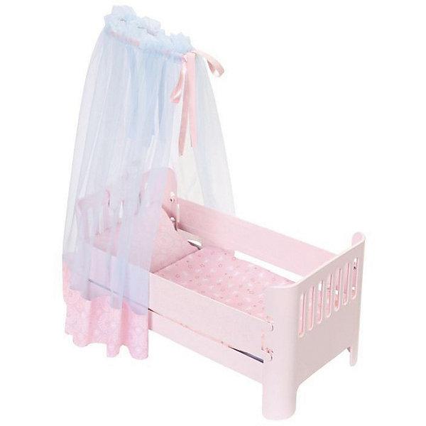 Кроватка для куклы Zapf Creation Baby Annabell Спокойной ночиМебель для кукол<br>Характеристики:<br>• возраст: от 3 лет;<br>• материал: пластик, текстиль;<br>• в комплекте: кроватка, матрас, одеяло, подушка. инструкция;<br>• упаковка: картонная коробка;<br>• страна бренда: Германия;<br>• страна изготовитель: Китай.<br>Великолепная кроватка для твоей малышки! В ней она будет видеть только добрый сны. Вуаль украшена мерцающими звездочками, боковые стенки кровати создают ощущение уюта, а приятная колыбельная мелодия успокаивает. В комплекте подушка и одеяло.<br>Кроватка для кукол Беби Анабель станет прекрасным спальным местечком для любимой игрушки девочки. Представленная кроватка является важным атрибутом для тематической игры в дочки-матери. С помощью такой игрушечной мебели девочка самостоятельно будет создавать интерьер, а также наводить порядок в игрушечном доме и ухаживать за своим малышом.<br>Игрушку Baby Annabell Кроватку Спокойной ночи, можно купить в нашем интернет-магазине.<br>Ширина мм: 500; Глубина мм: 271; Высота мм: 119; Вес г: 1416; Возраст от месяцев: 36; Возраст до месяцев: 60; Пол: Женский; Возраст: Детский; SKU: 5508596;